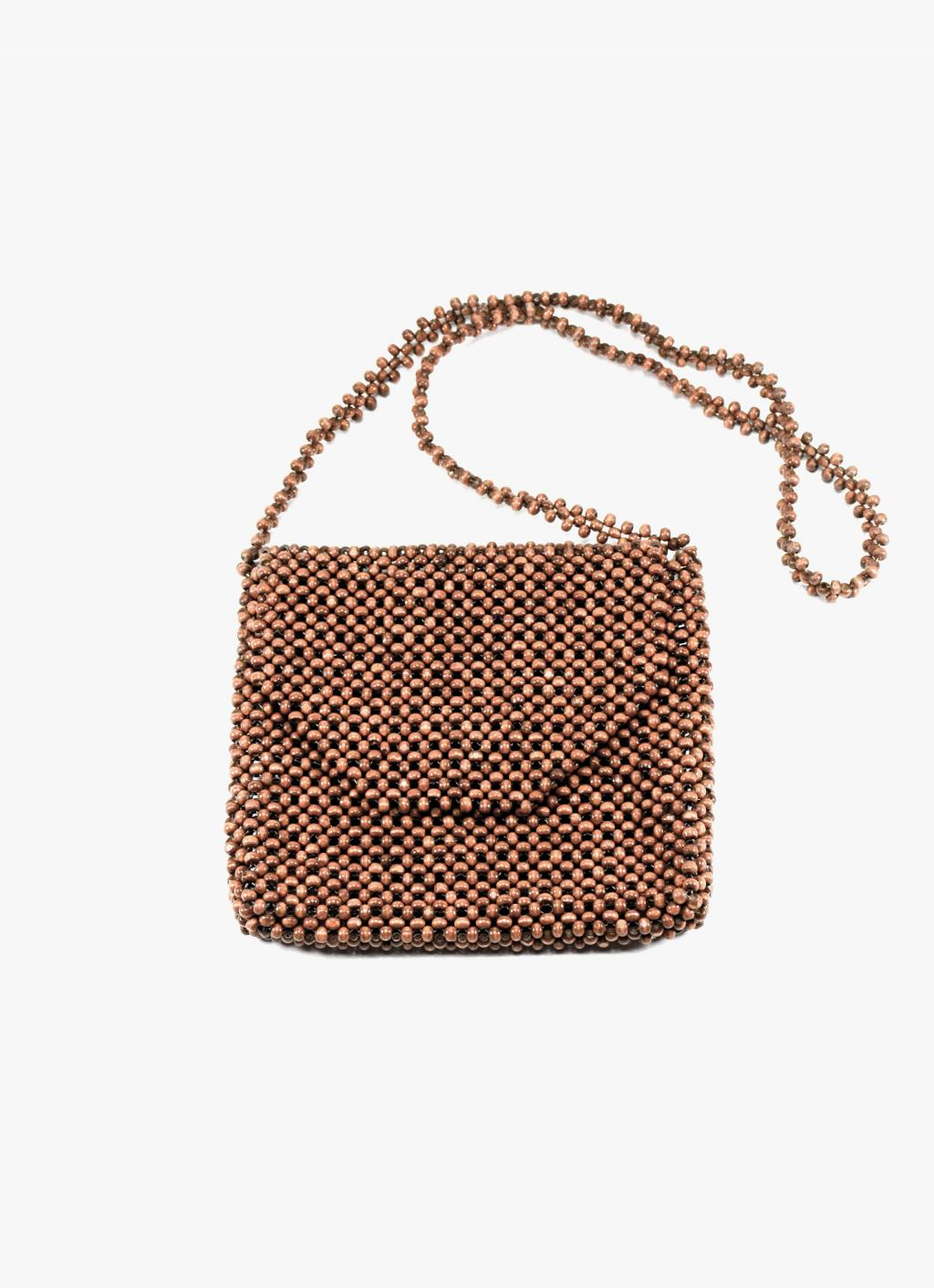 Abaca - Ligaw Wood Sling Bag - Chestnut
