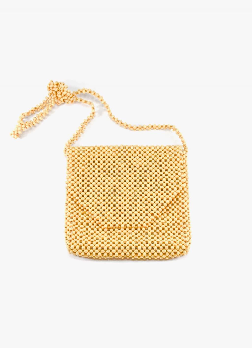 Abaca - Ligaw Wood Sling Bag - Oat