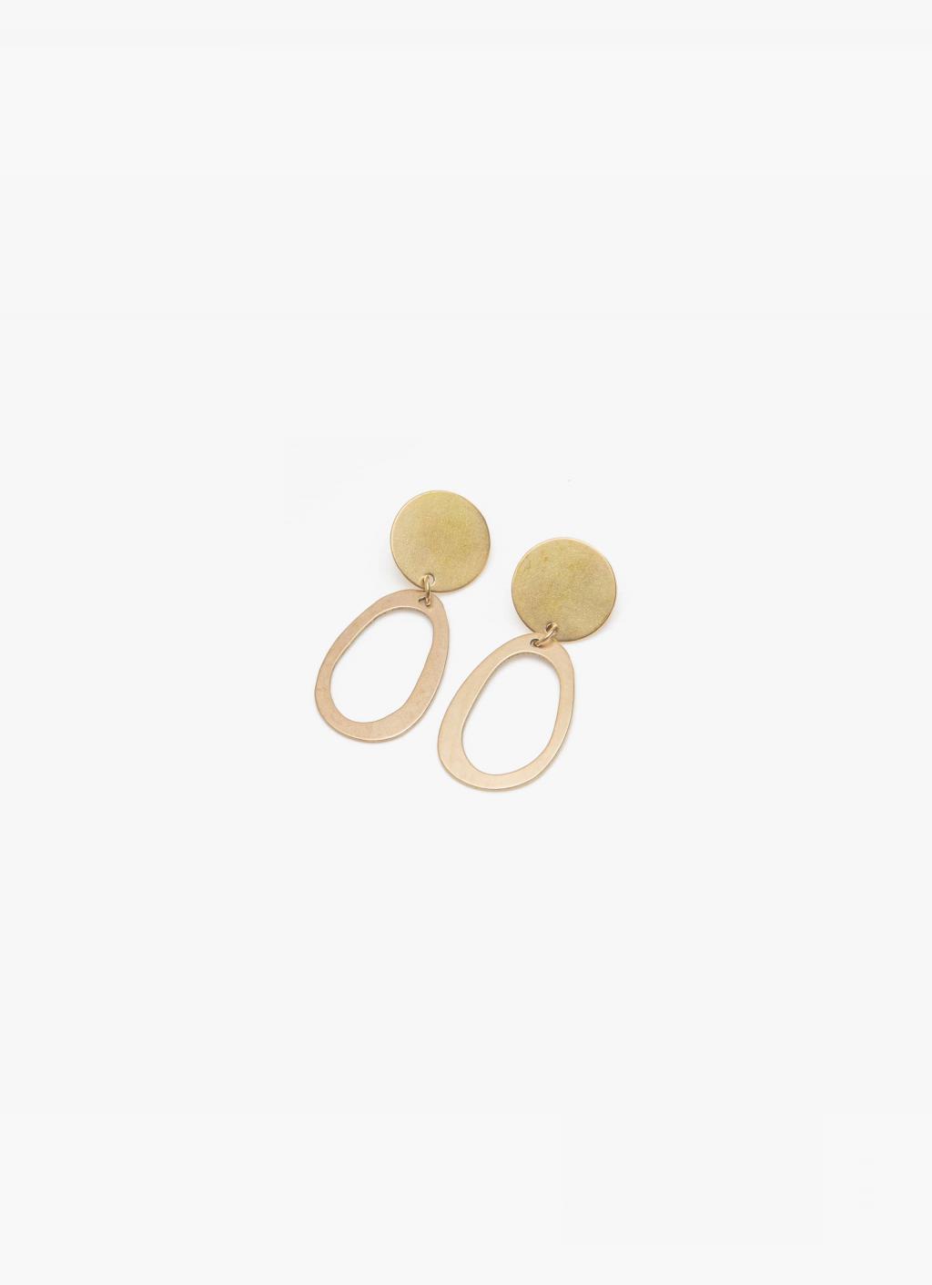 Modern Weaving - Oblong Oval Studs - Brass High Polish