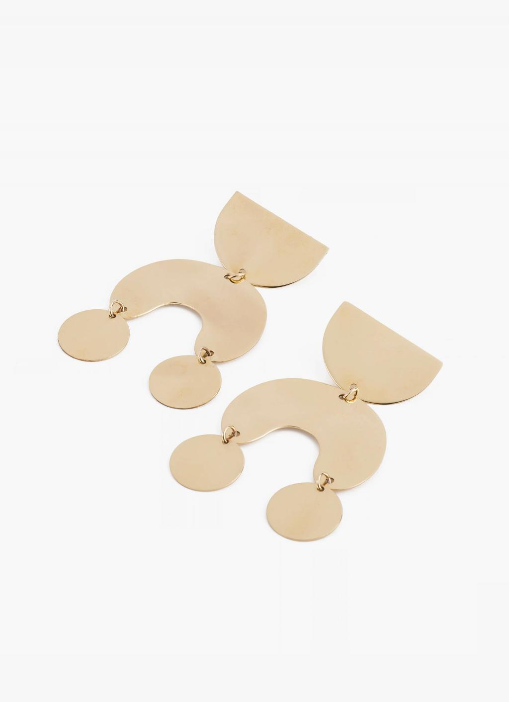 Modern Weaving - Moondancer Statement Earrings - Brass High Polish