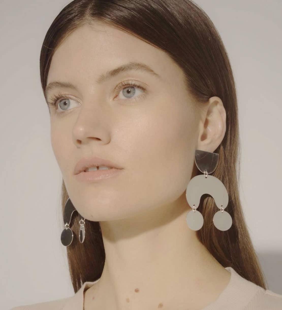 Modern Weaving - Moondancer Statement Earrings - Sterling Silver