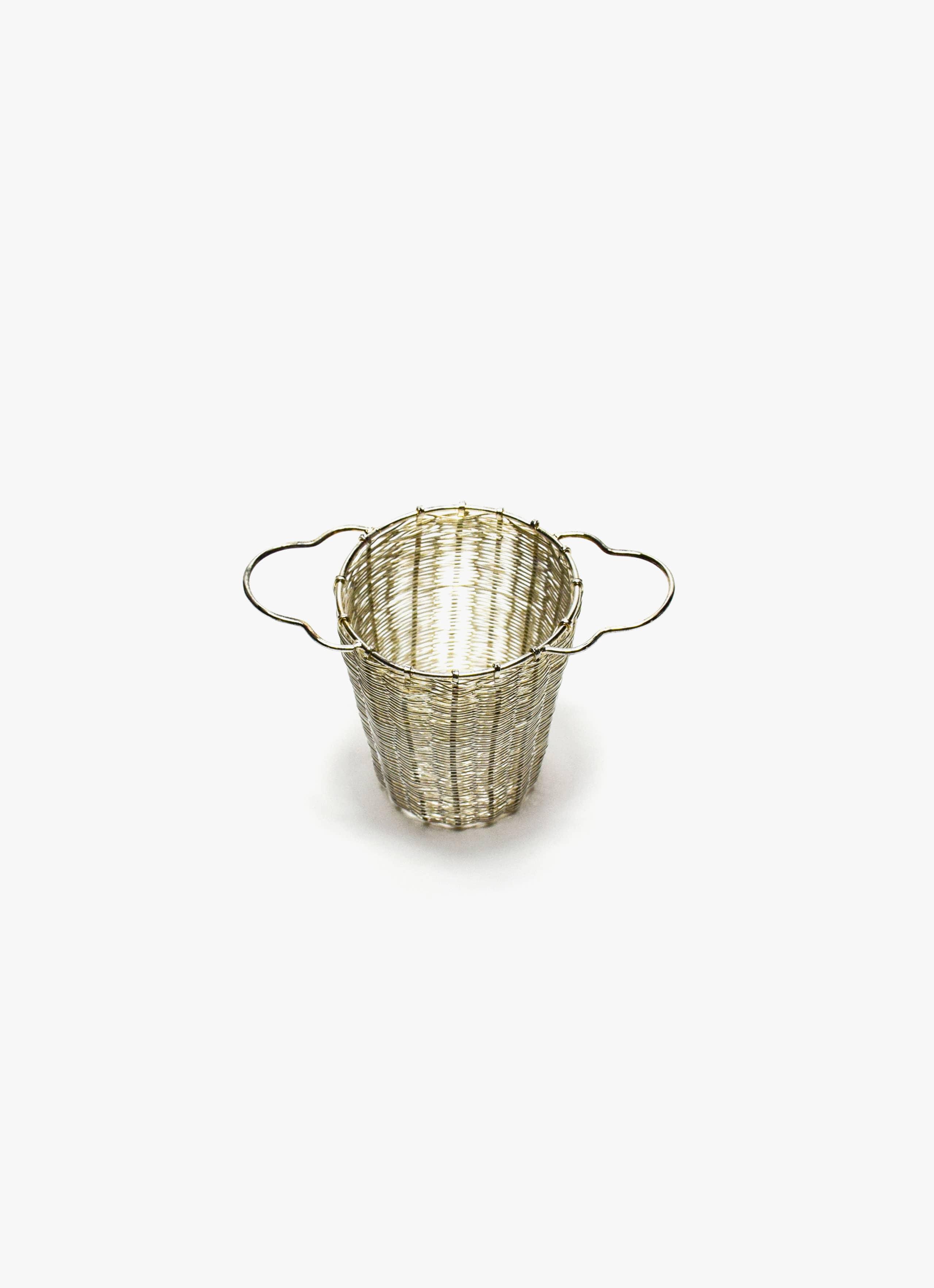 Bellocq - Tea Strainer - Deep Basket - Silver Plated Brass
