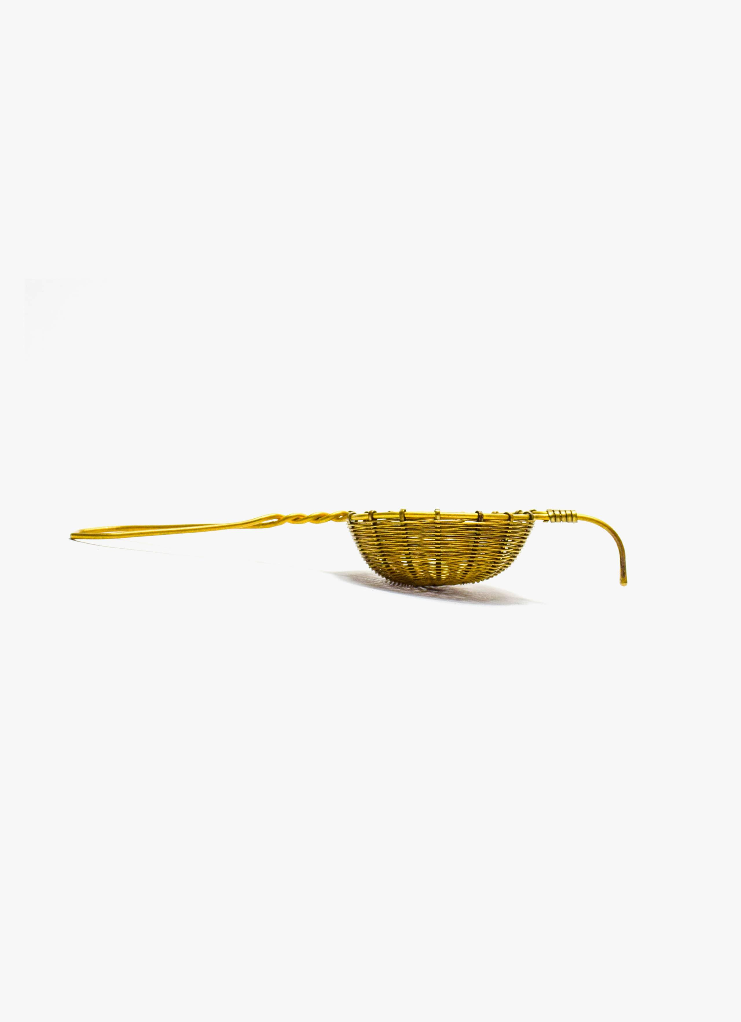 Bellocq - Tea Strainer - Petite Basket - Brass