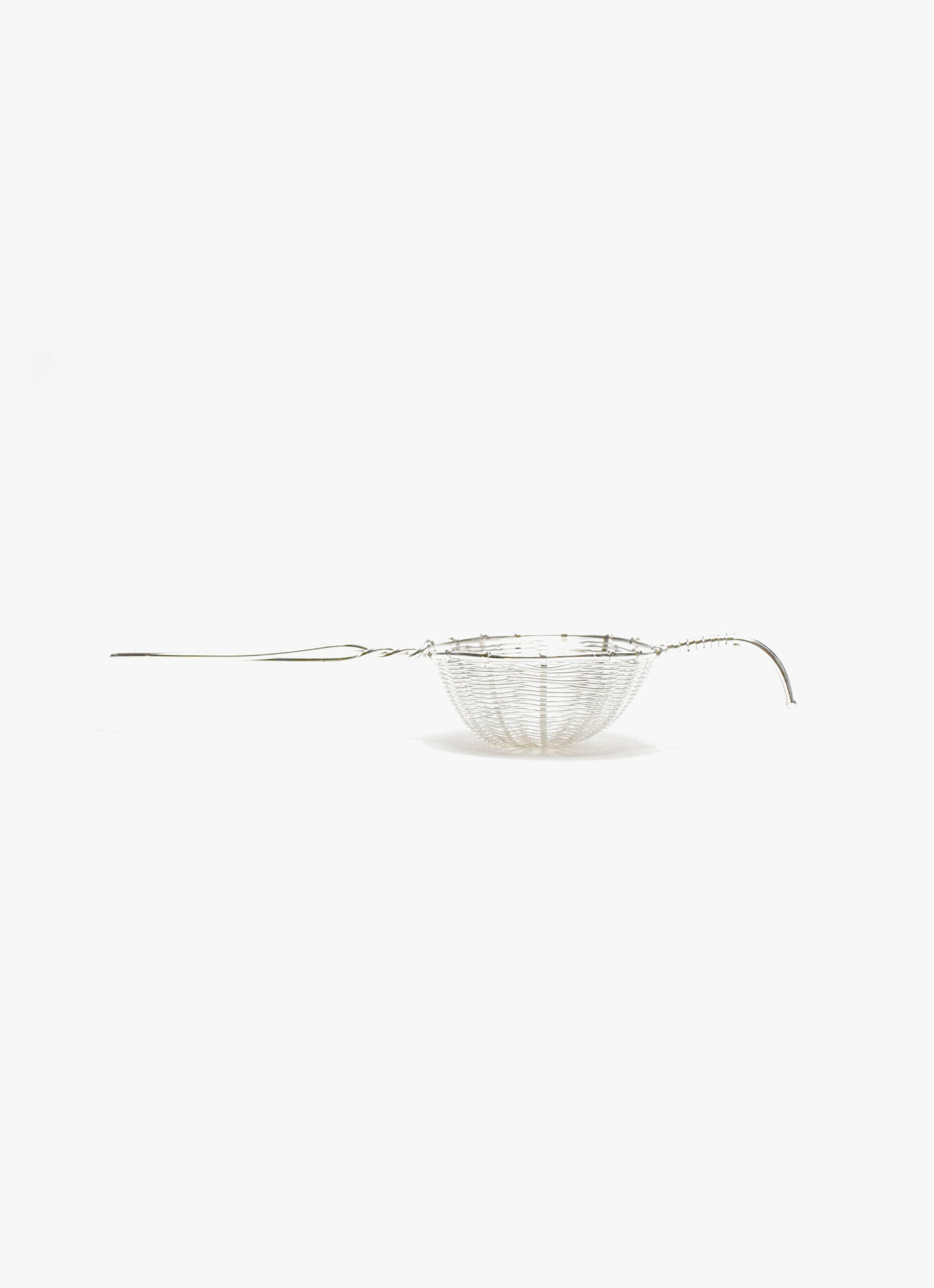 Bellocq - Tea Strainer - Petite Basket - Silver Plated Brass