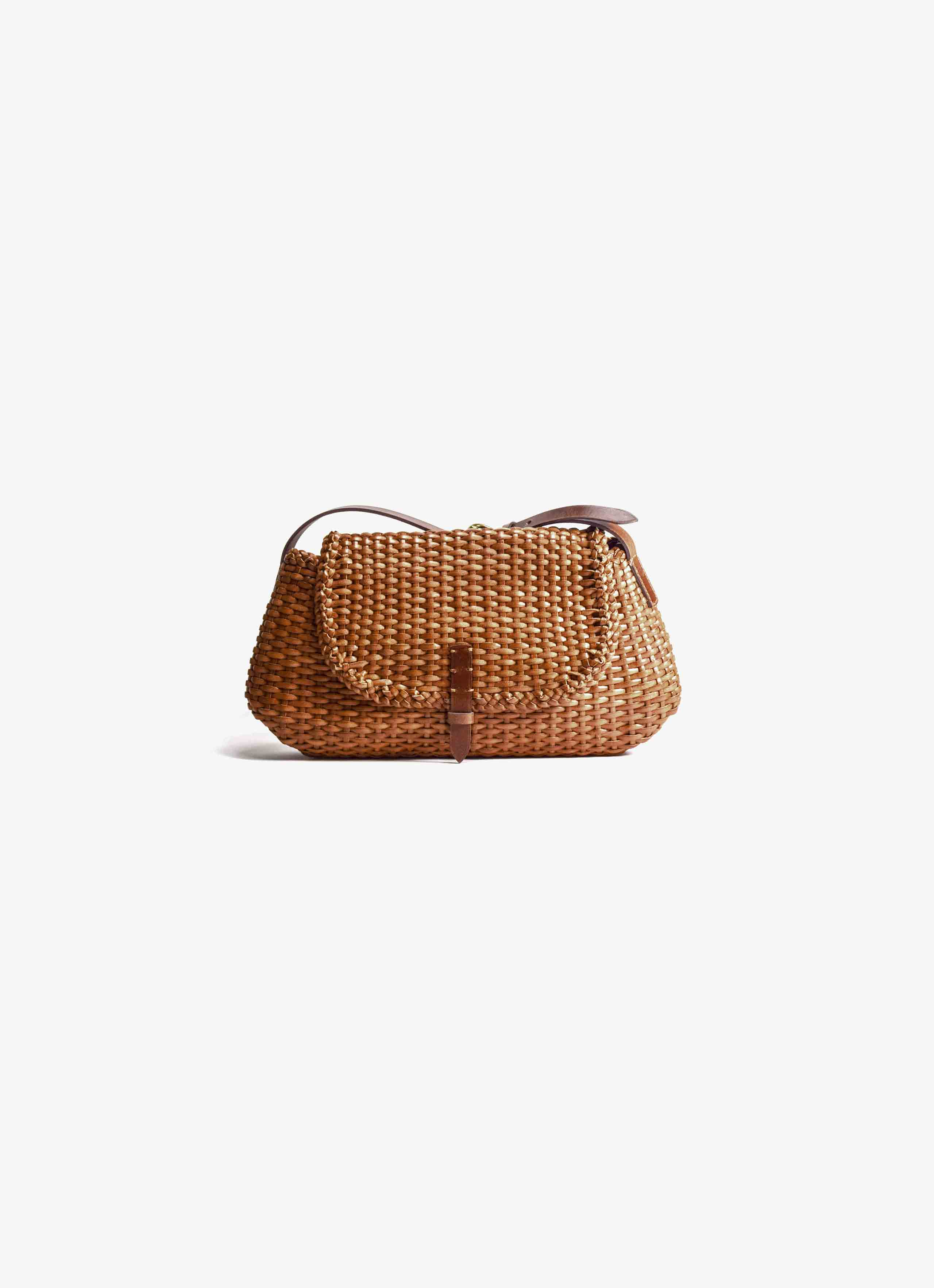 Dragon Diffusion - Weave City Strap - Leather Bag with Flap