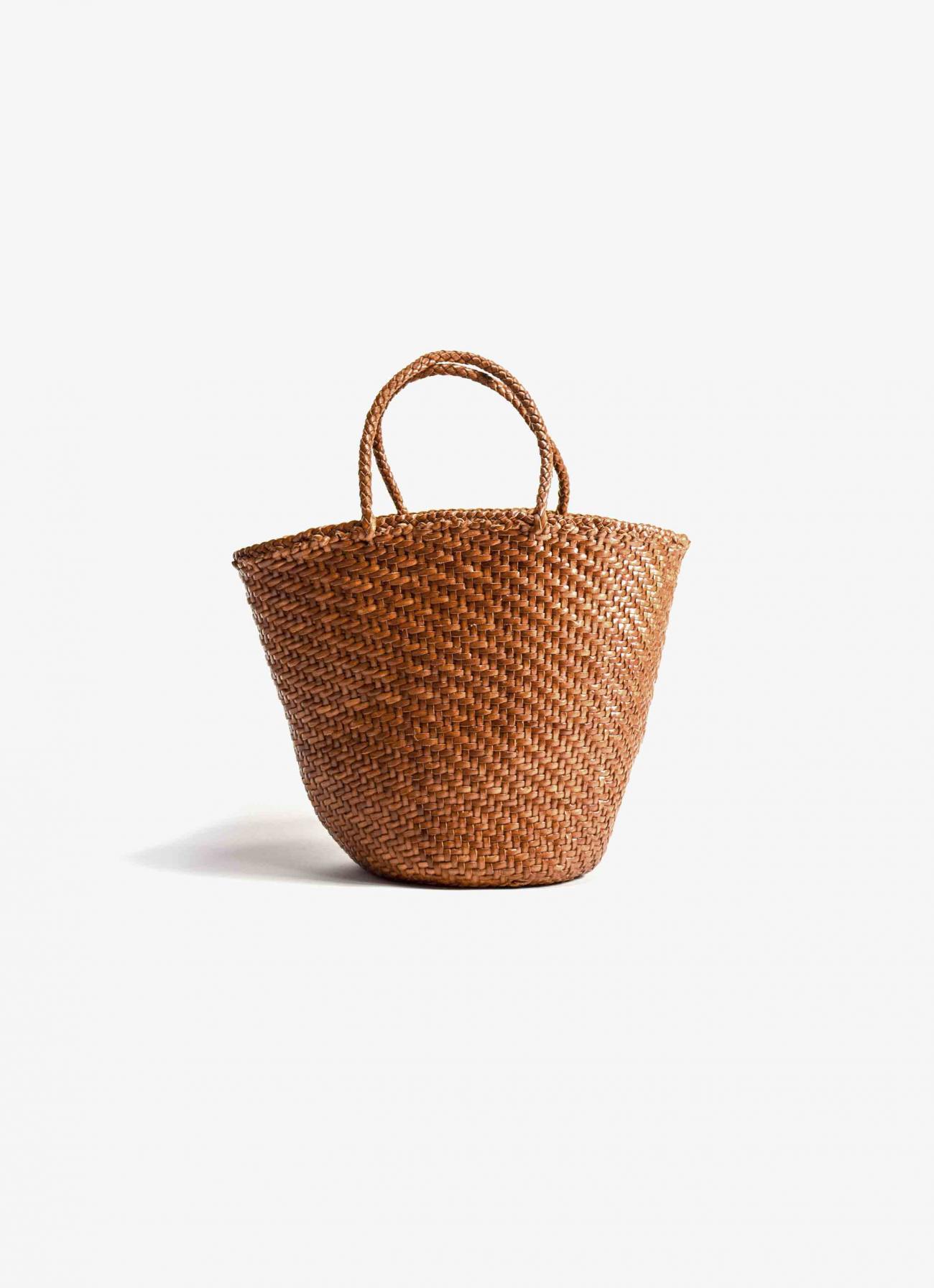 Dragon Diffusion - Weave Myra - Leather Basket Bag