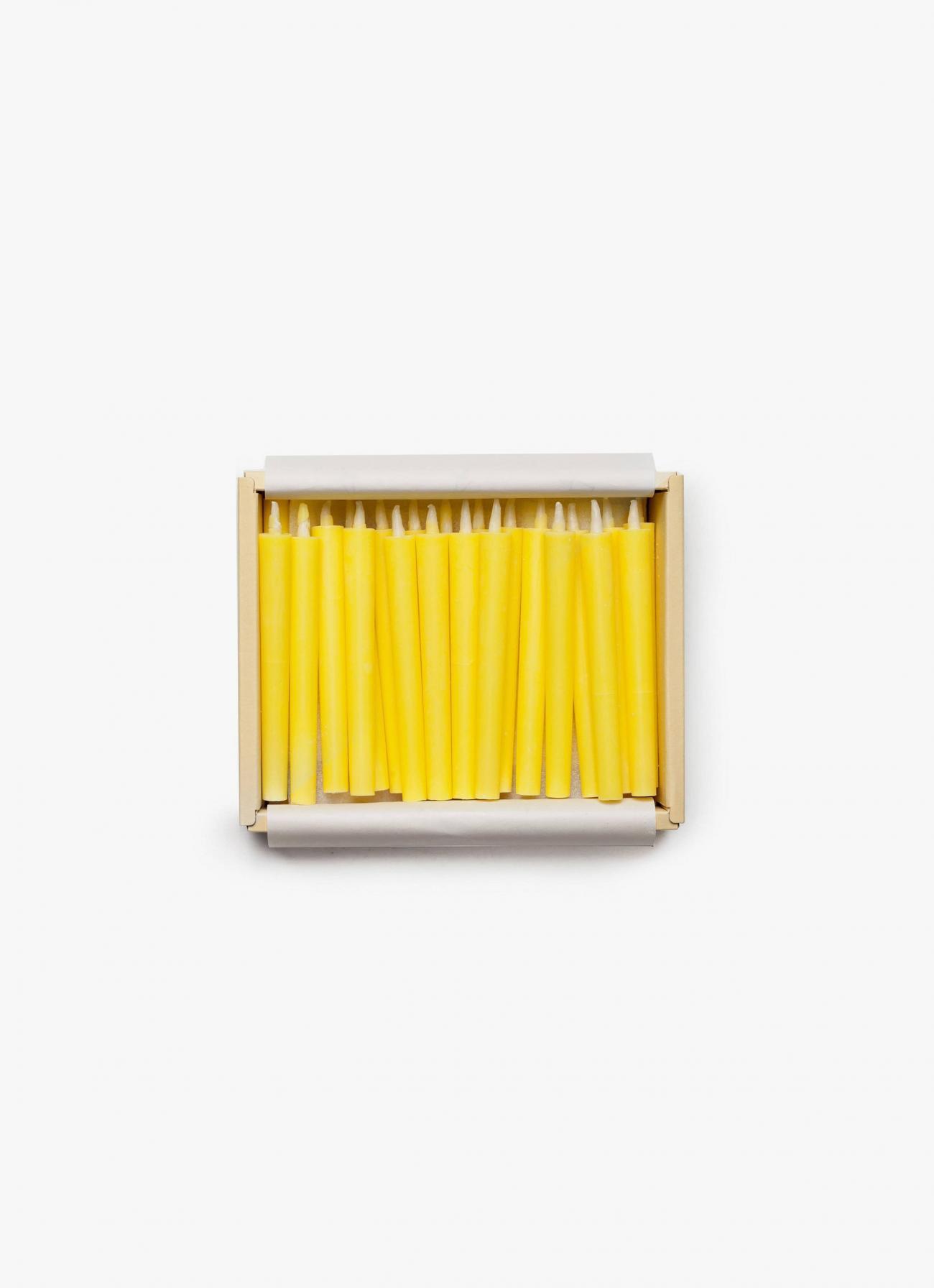 Takazawa - Japanese Nanohana candles box - Set of 40