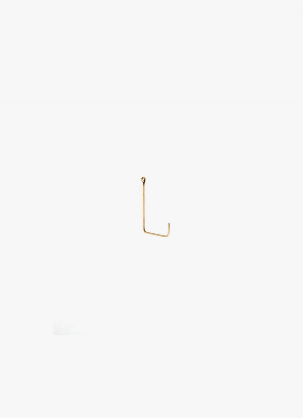 Fog Linen Work - Single hook - brass