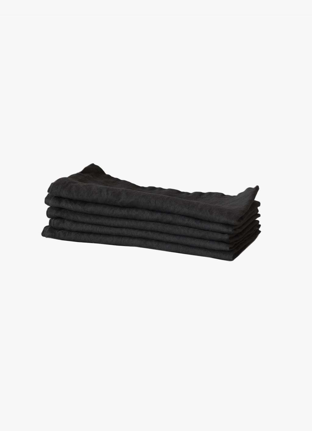 Tell Me More - Linen Napkin - Carbon