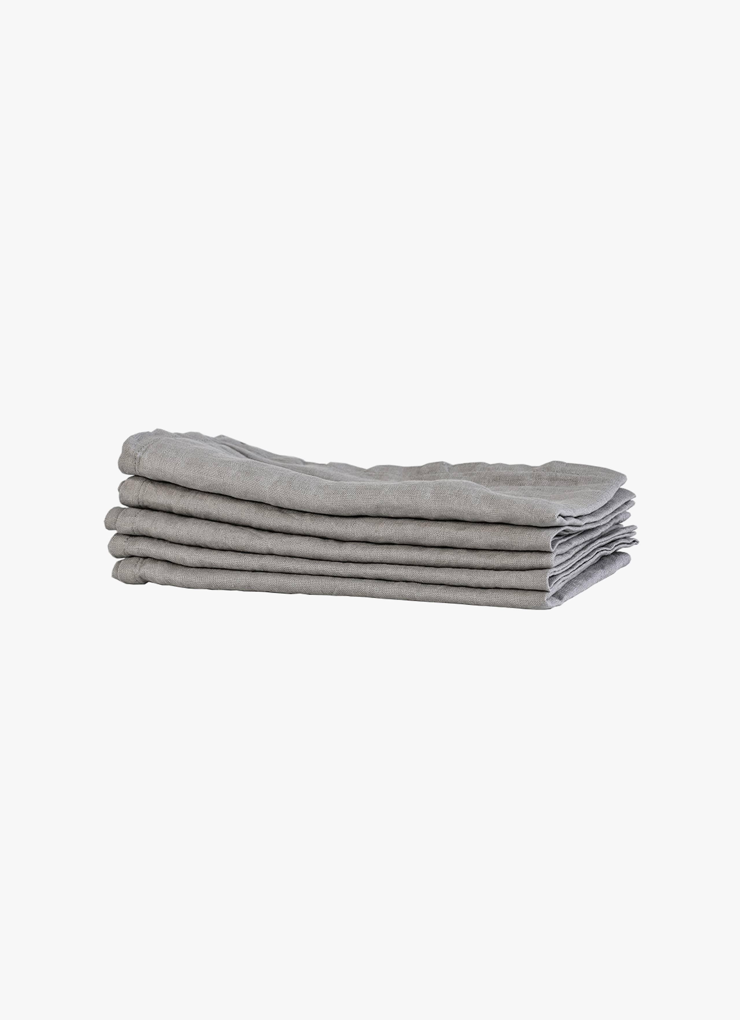 Tell Me More - Linen Napkin - Light Grey