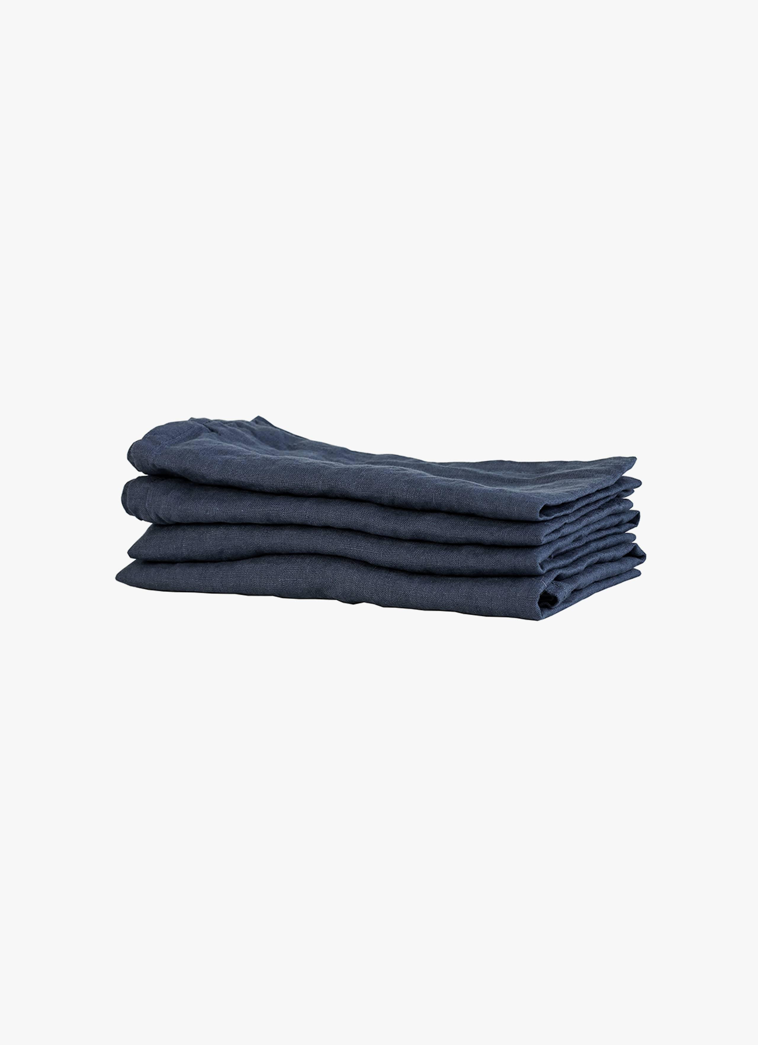 Tell Me More - Linen Napkin - Midnight Blue