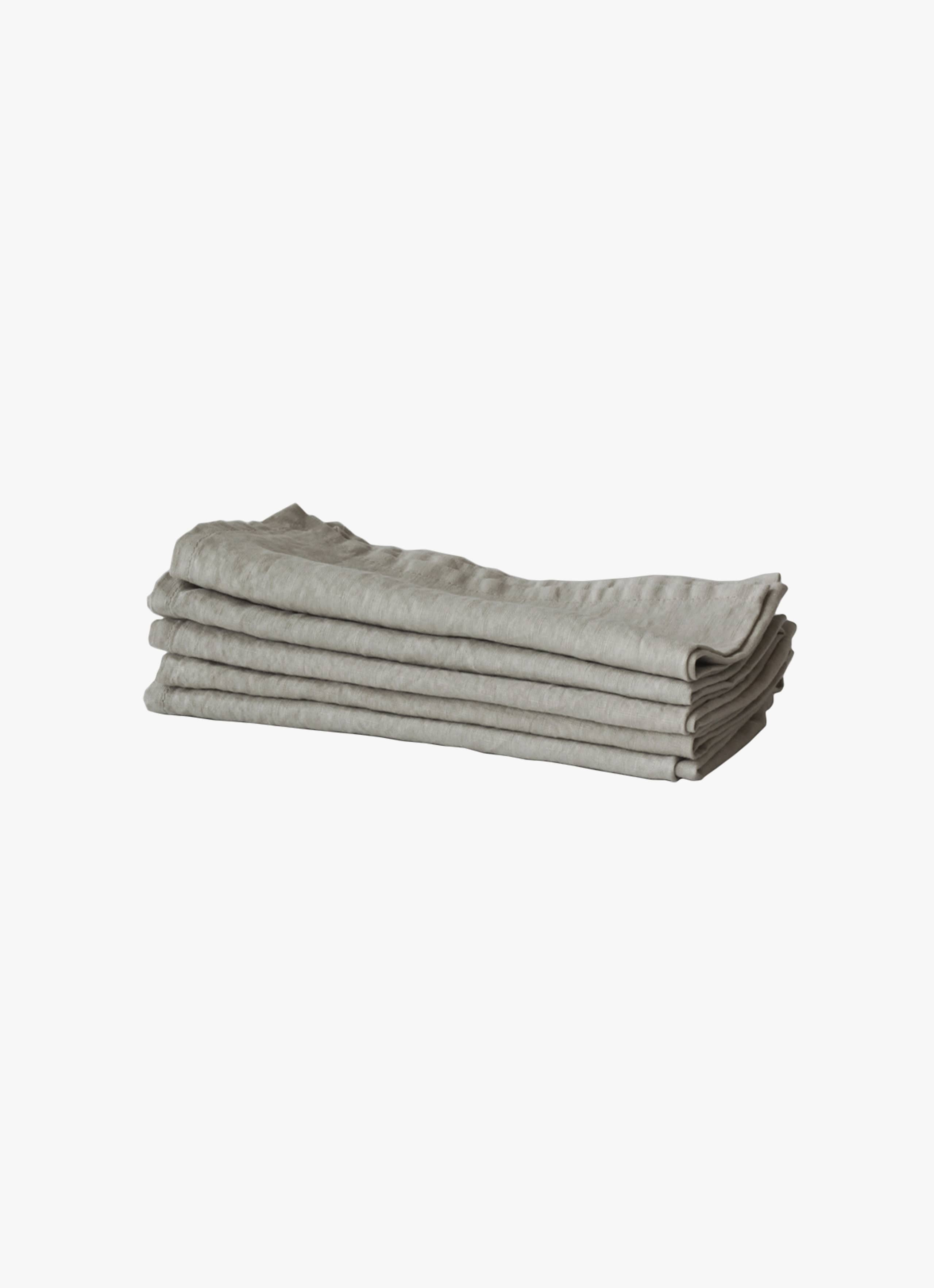 Tell Me More - Linen Napkin - Warm Grey