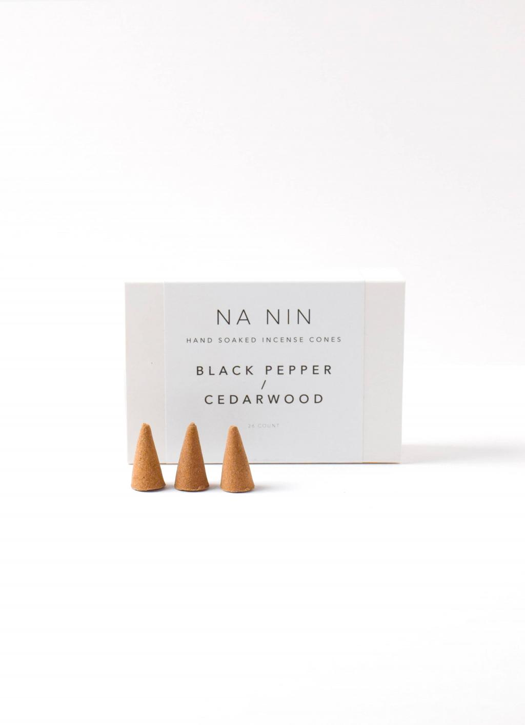 Na Nin - Incense Cones - Black Pepper and Cedarwood