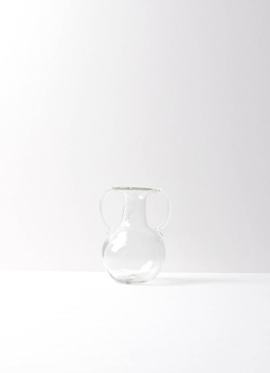 La Soufflerie - Bagno two Anses - Glass Vase- transparent