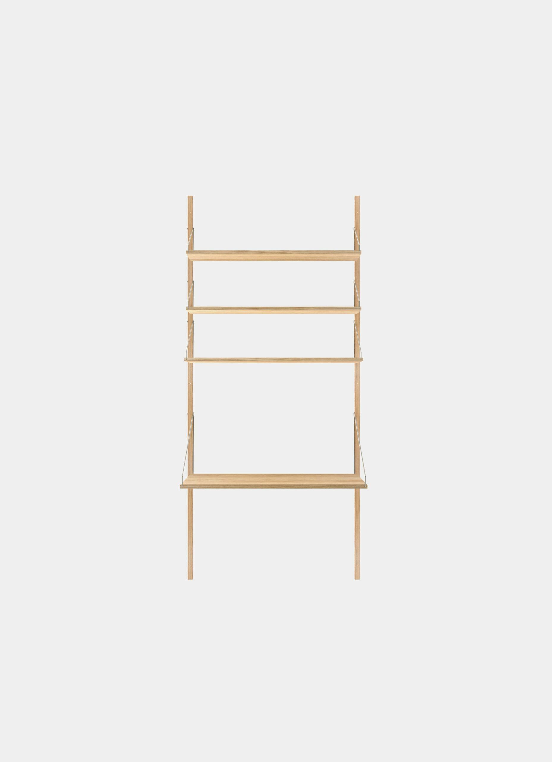 Frama - Shelf Library - Natural - H1852 - Desk Section