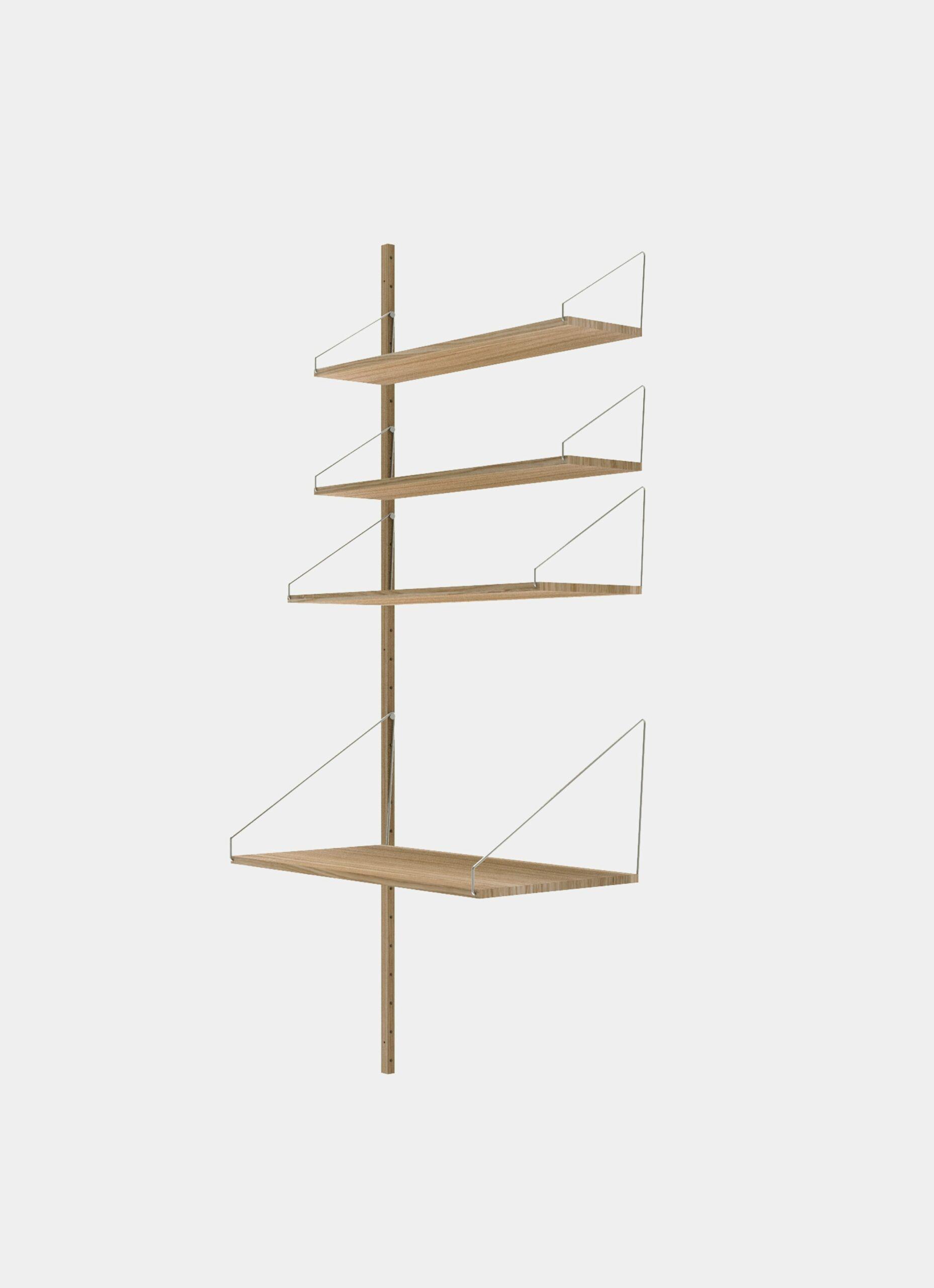Frama - Shelf Library - Natural - H1852 - Desk Add-on Section