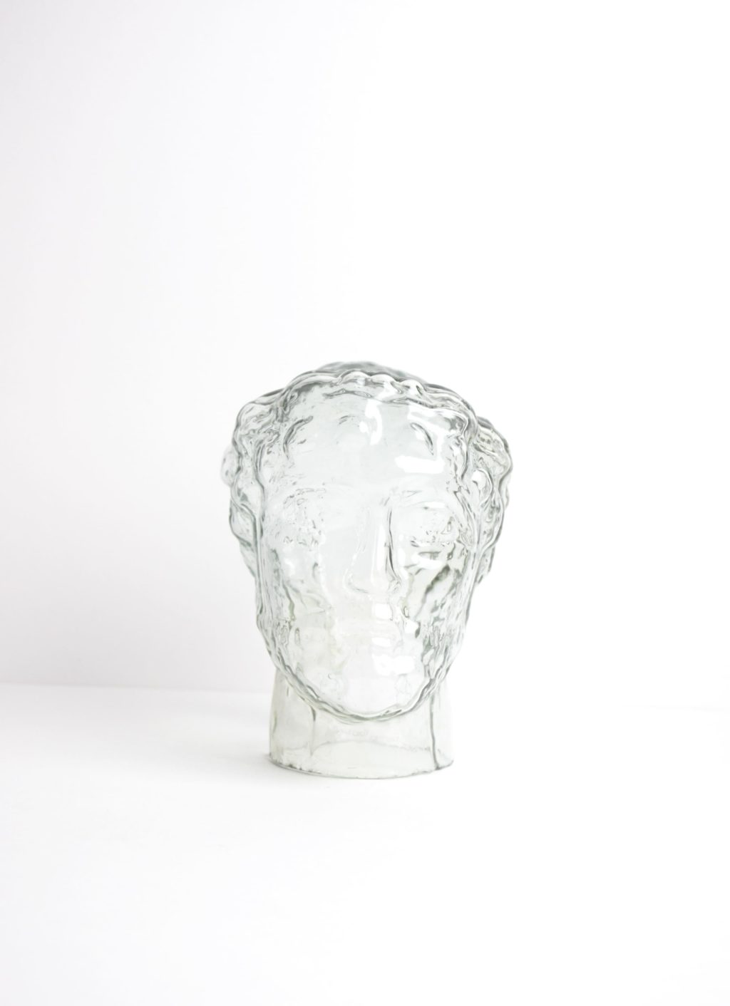La Soufflerie - Pericles - tete_transparent - recycled glass