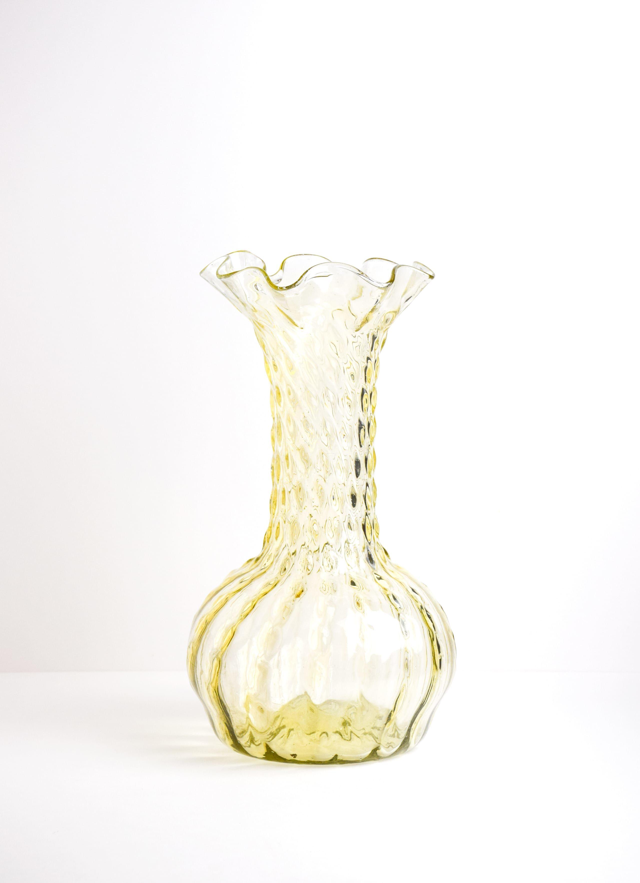 La Soufflerie - Twirl - Glass Vase - yellow_avec_Foulard