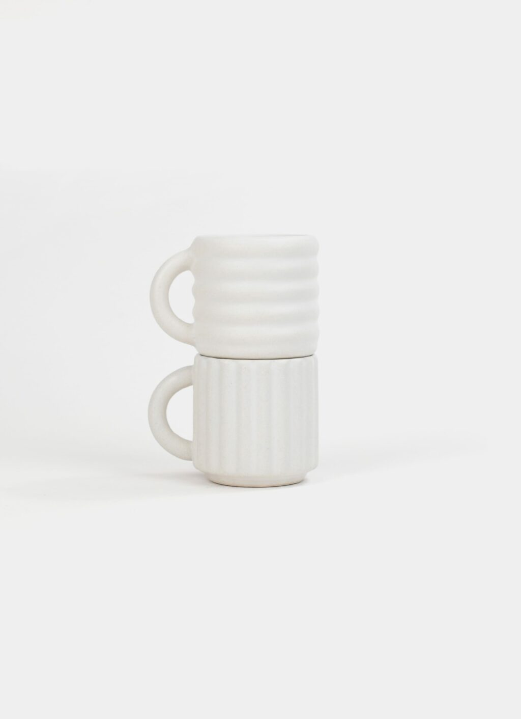 Form and Seek - Ripple Espresso Cups - Set of Two - White