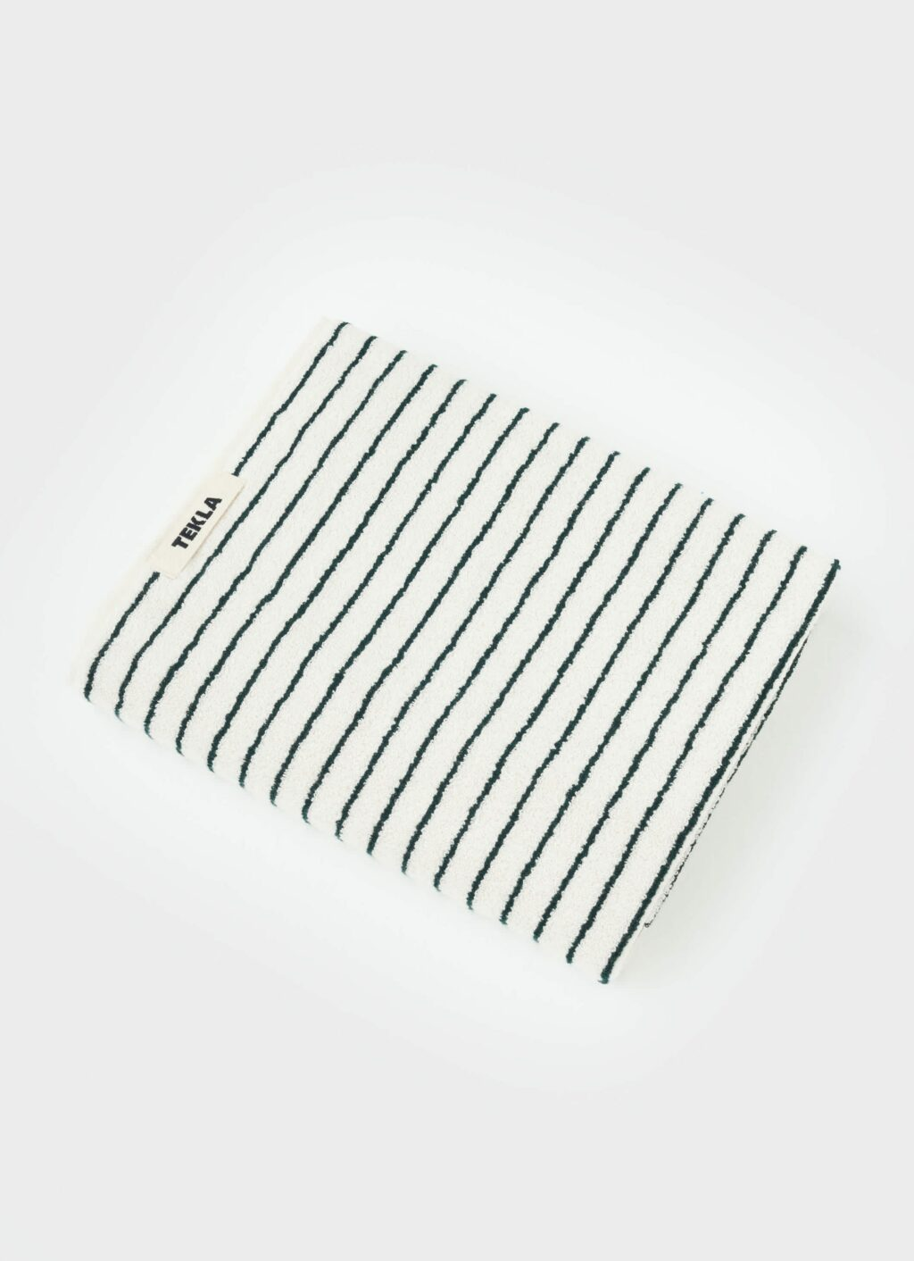Tekla - Organic Terry Towel - Bath Sheet - Racing Green Stripes - 100x180cm