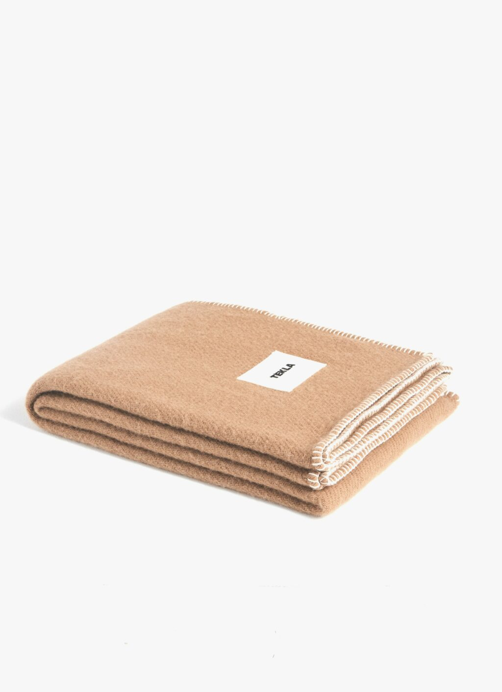 Tekla - Pure New Wool Blanket - Hazel Brown - 130x180cm