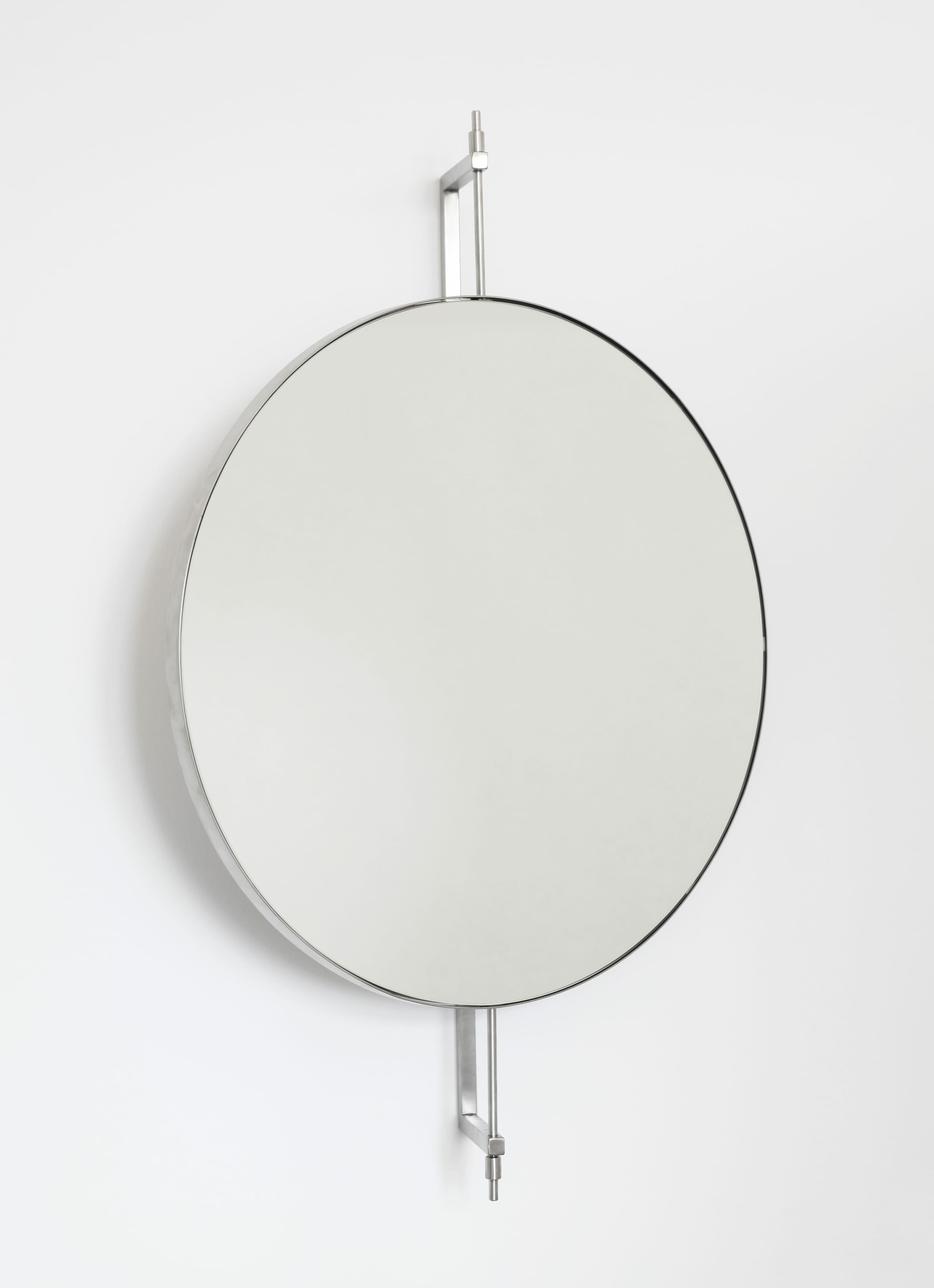 Kristina Dam Studio - Rotating Mirror - Stainless Steel