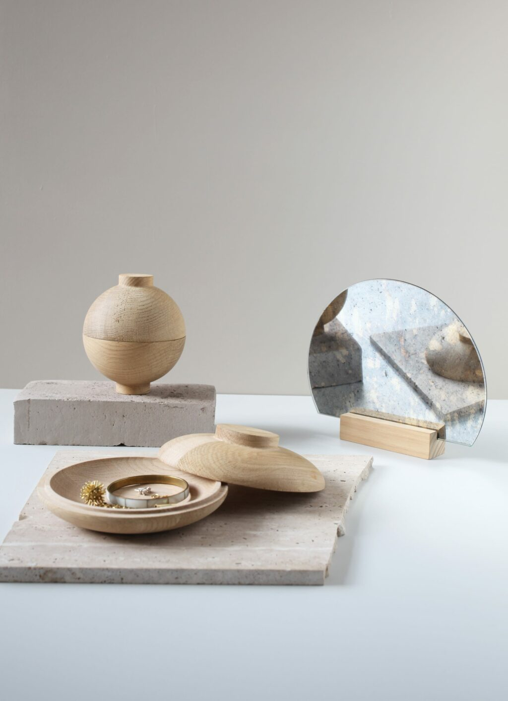 Kristina Dam Studio - Wooden Sphere - Solid Oak