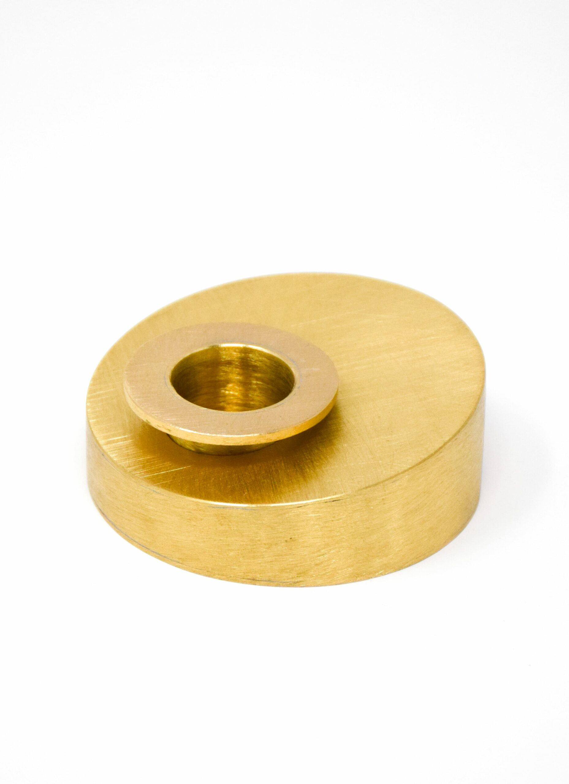 Lappalainen - Handmade Candle Holder - Matte Brass