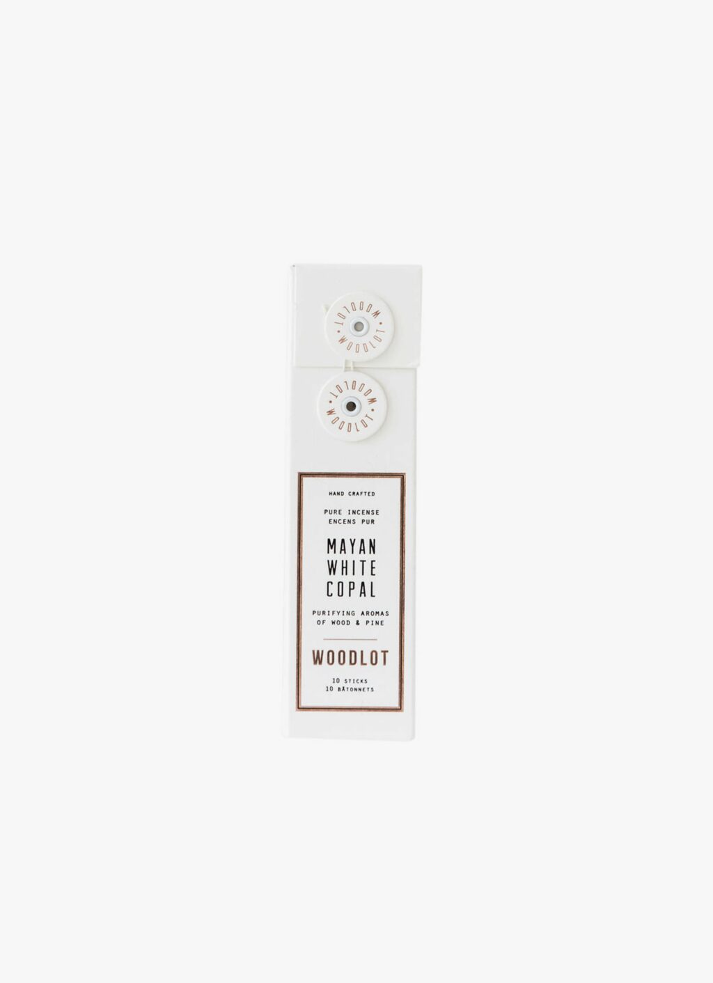 Woodlot - Mayan White Copal - 10 hand crafted Incense sticks
