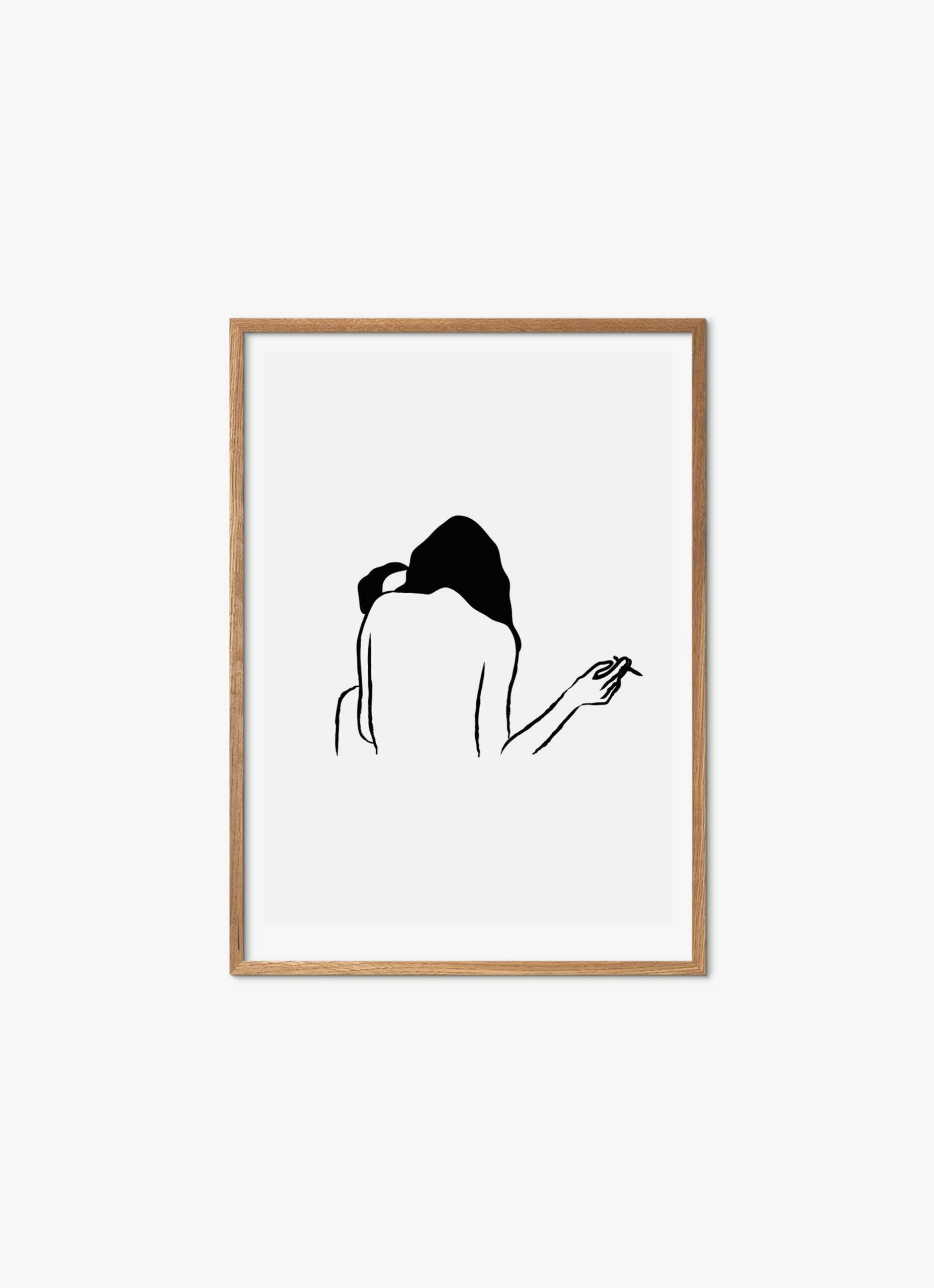 Gustav Lautrup - Lovers - Art Print - 50x70cm