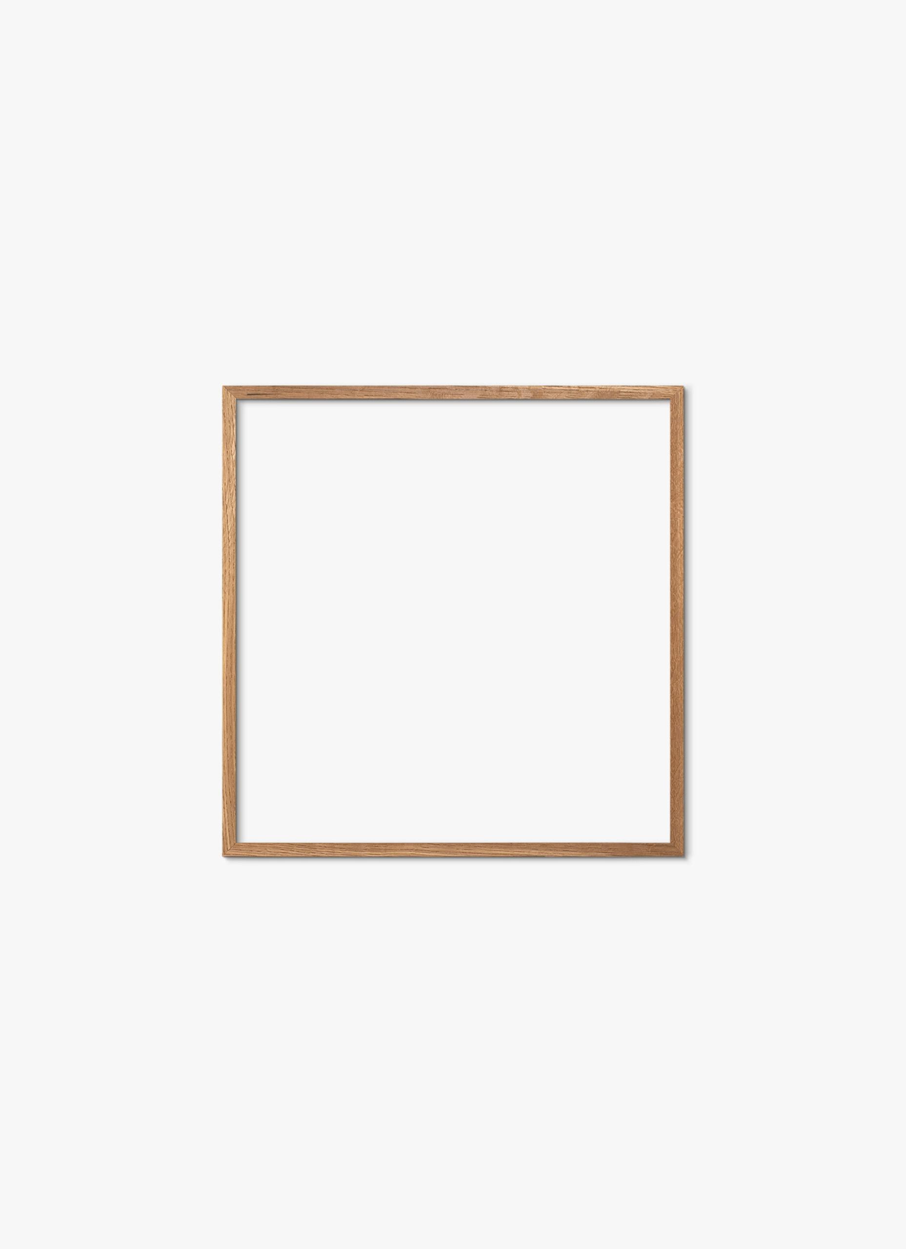 Solid Oak Frame - Natural - 50x50 cm