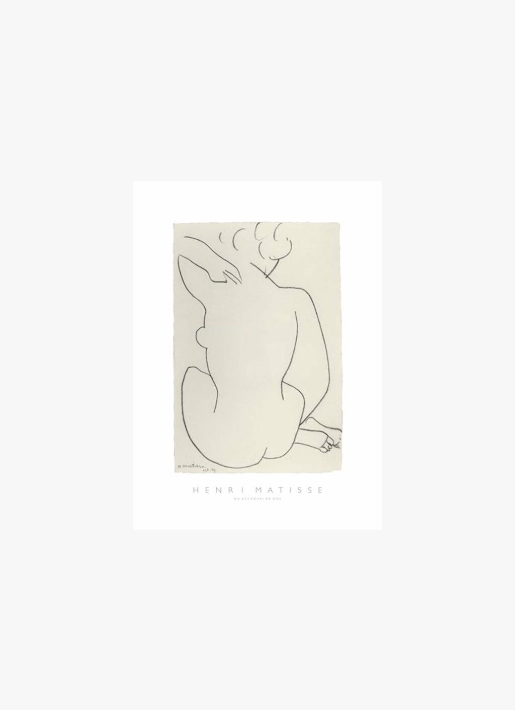 Matisse - Art Print - Nu Accroupi de Dos - 50x70cm