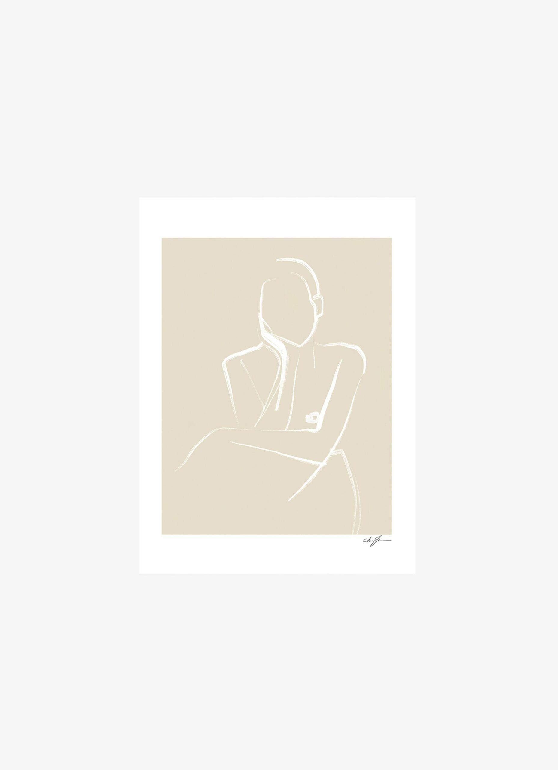 Anna Johansson - Art Print - Demure - 50x70cm