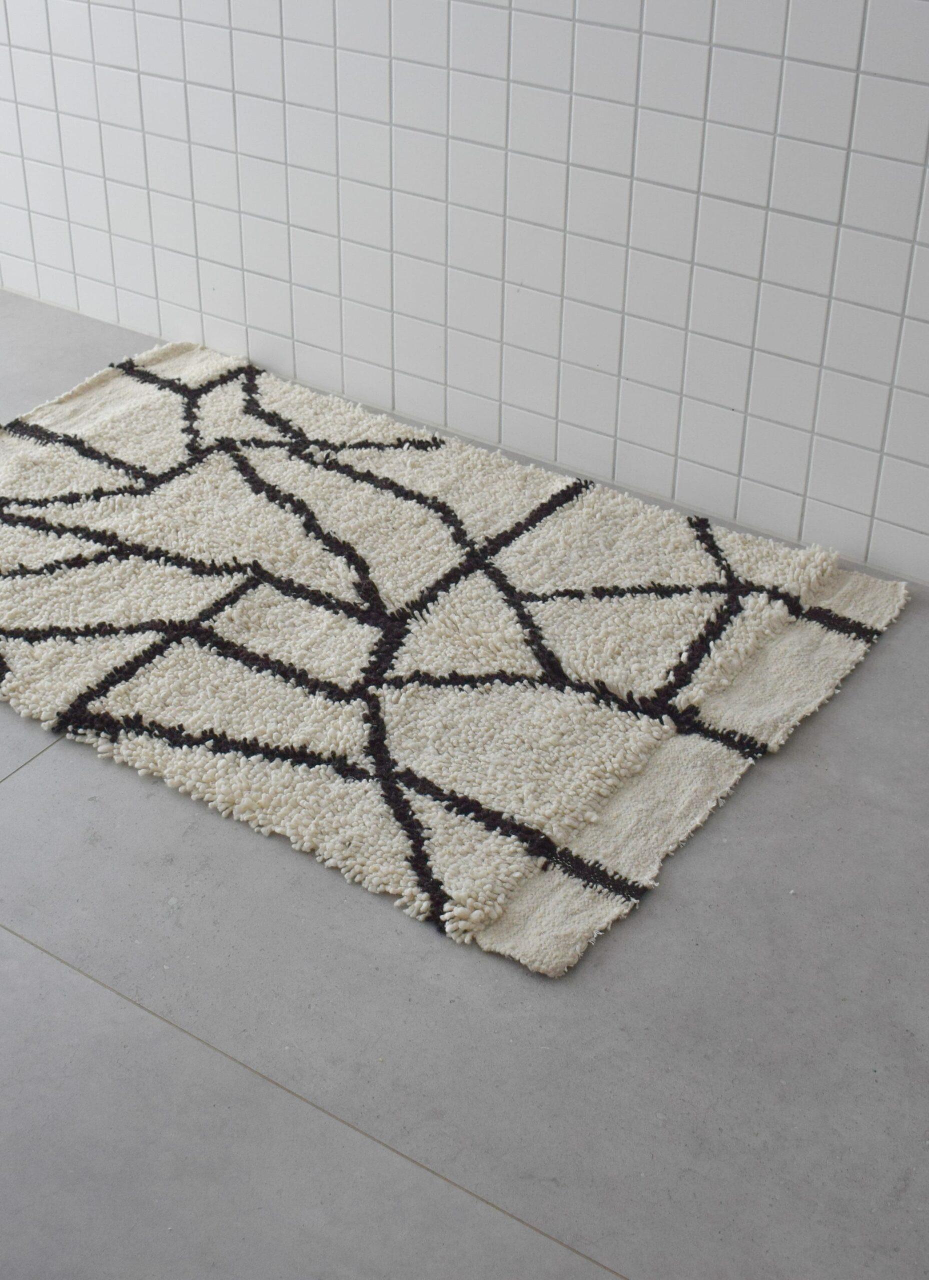 Que onda vos - Handwoven wool rug - Pelu Stone - 85x140cm