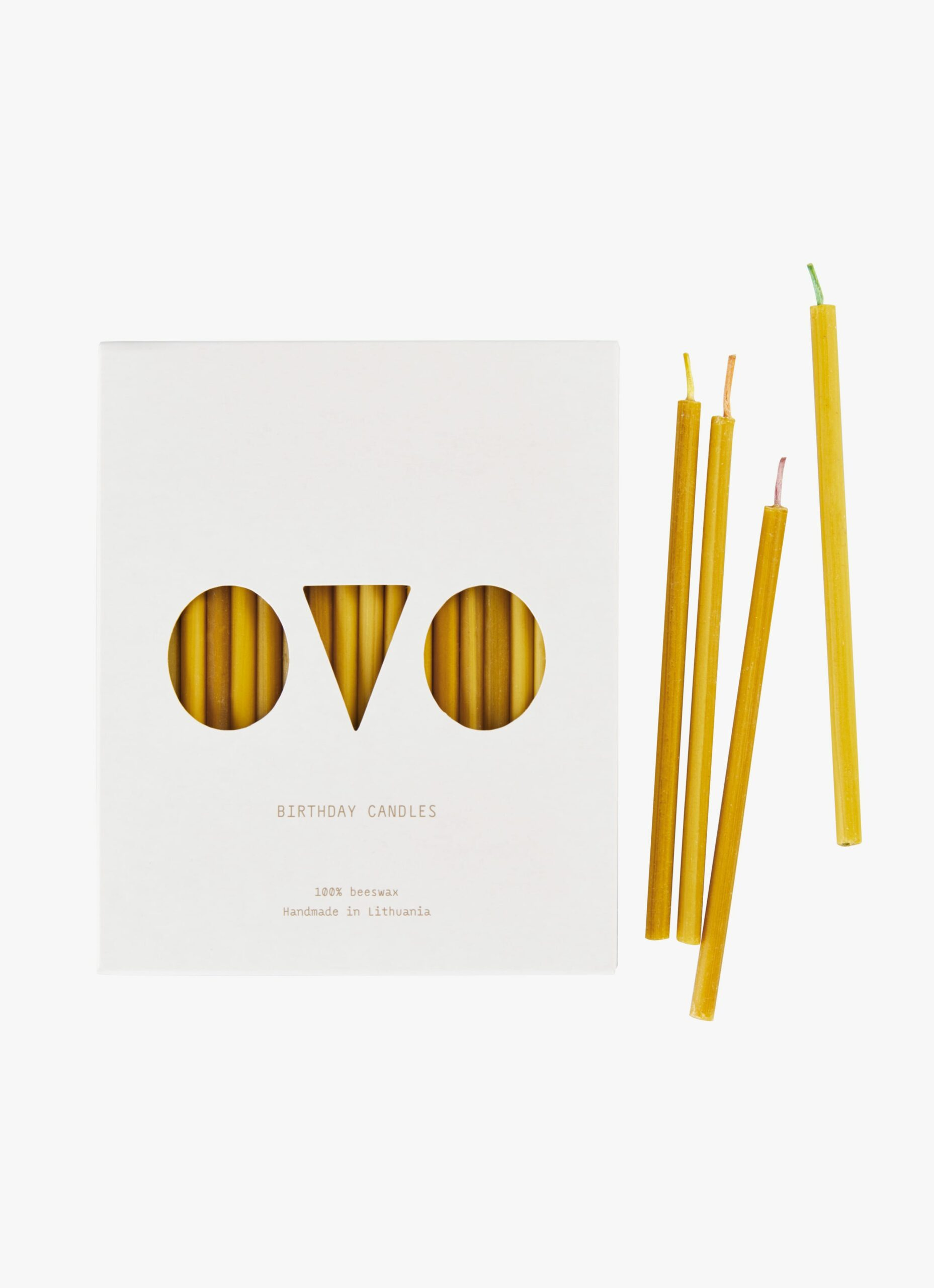 Ovo Things - Beeswax Birthday Candles - 20pc