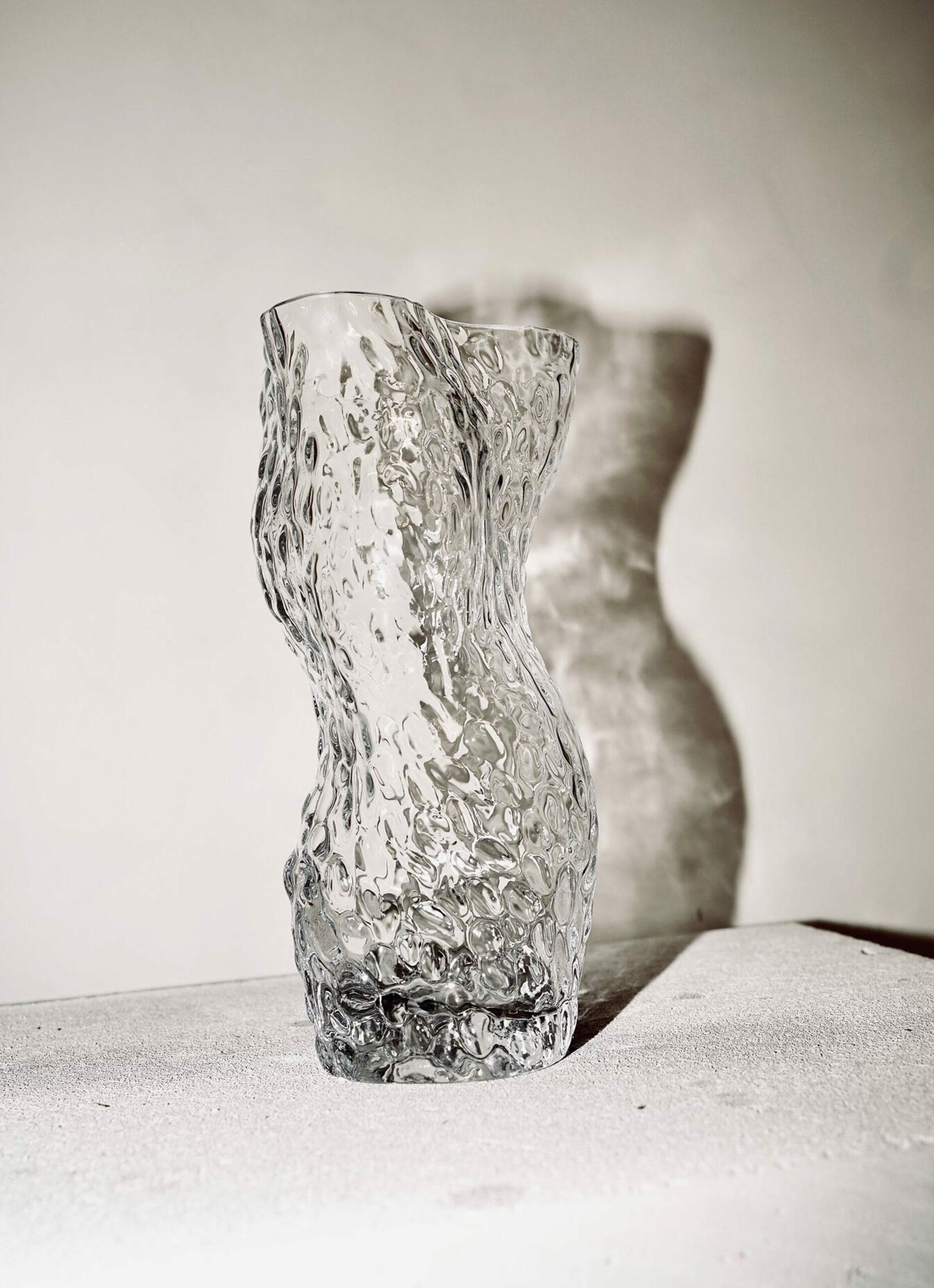 Hein Studio - Ostrea Rock Glass Vase - clear