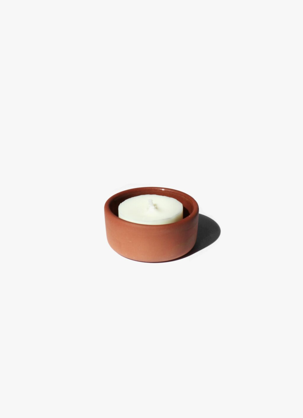 The very good candle company - Terracotta Tealight Holder with beeswax candle
