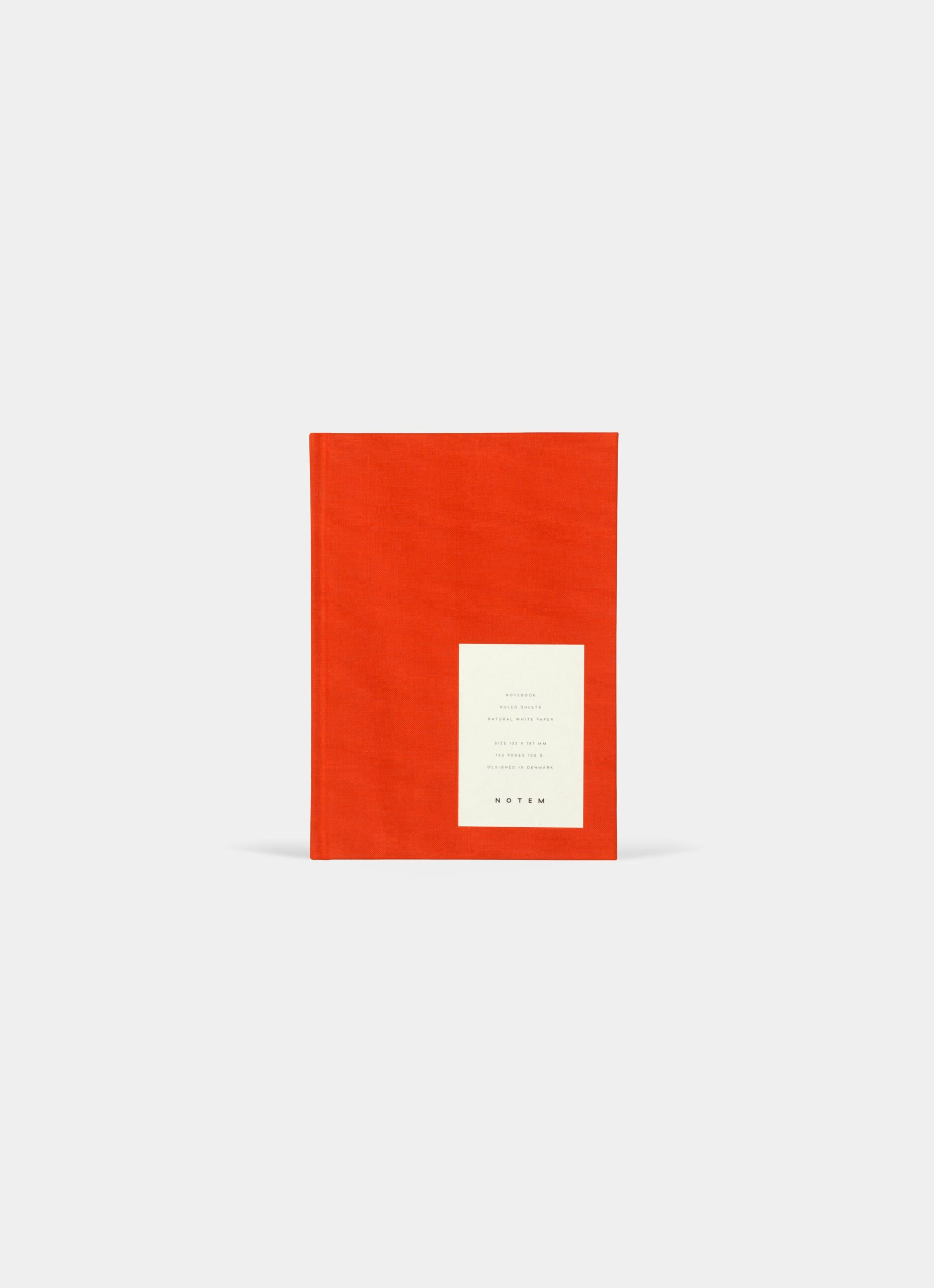 Notem - Even Notebook - M - Bright Red