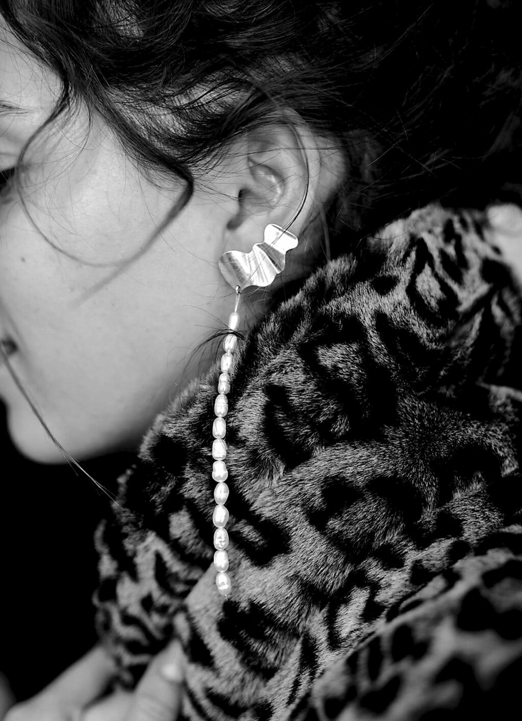 Oni Studio - Thalassa Earring - Recycled silver and vintage pearls