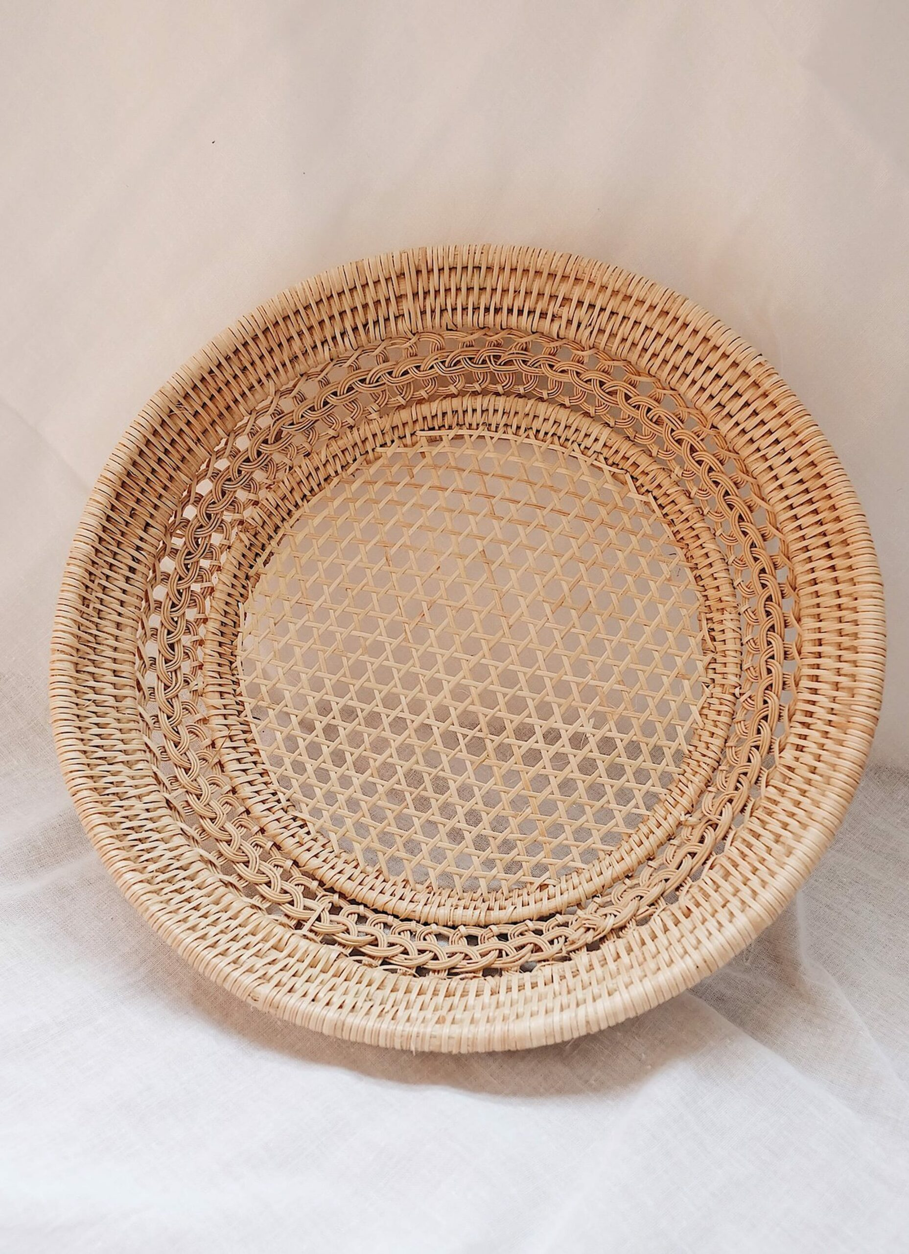 Olive and Iris - Magnolia - Handwoven Rattan Tray