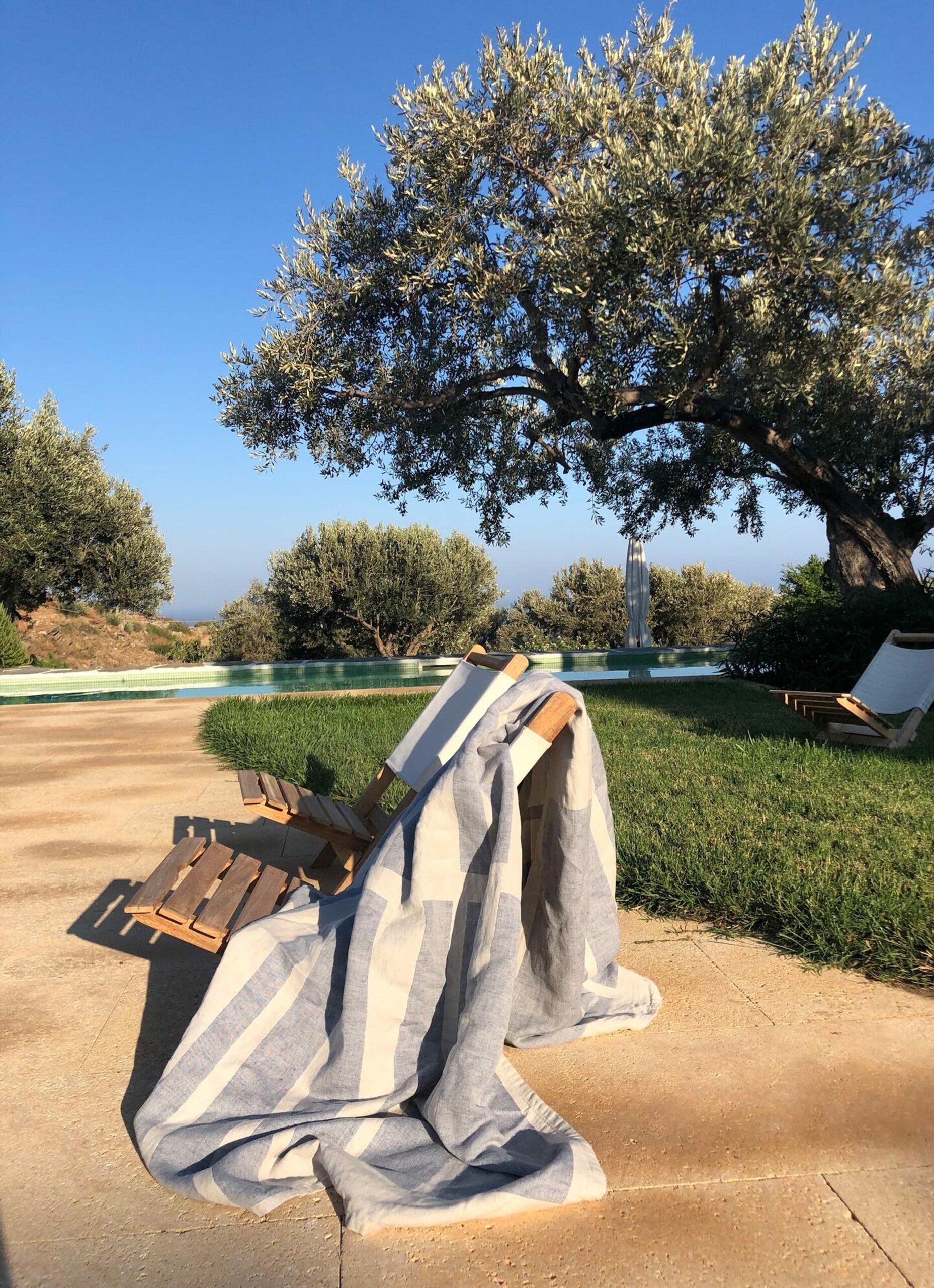 Nimu - Roma - Ischia Beach Towel - Soft linen and Cotton-jacquard - 170x135cm