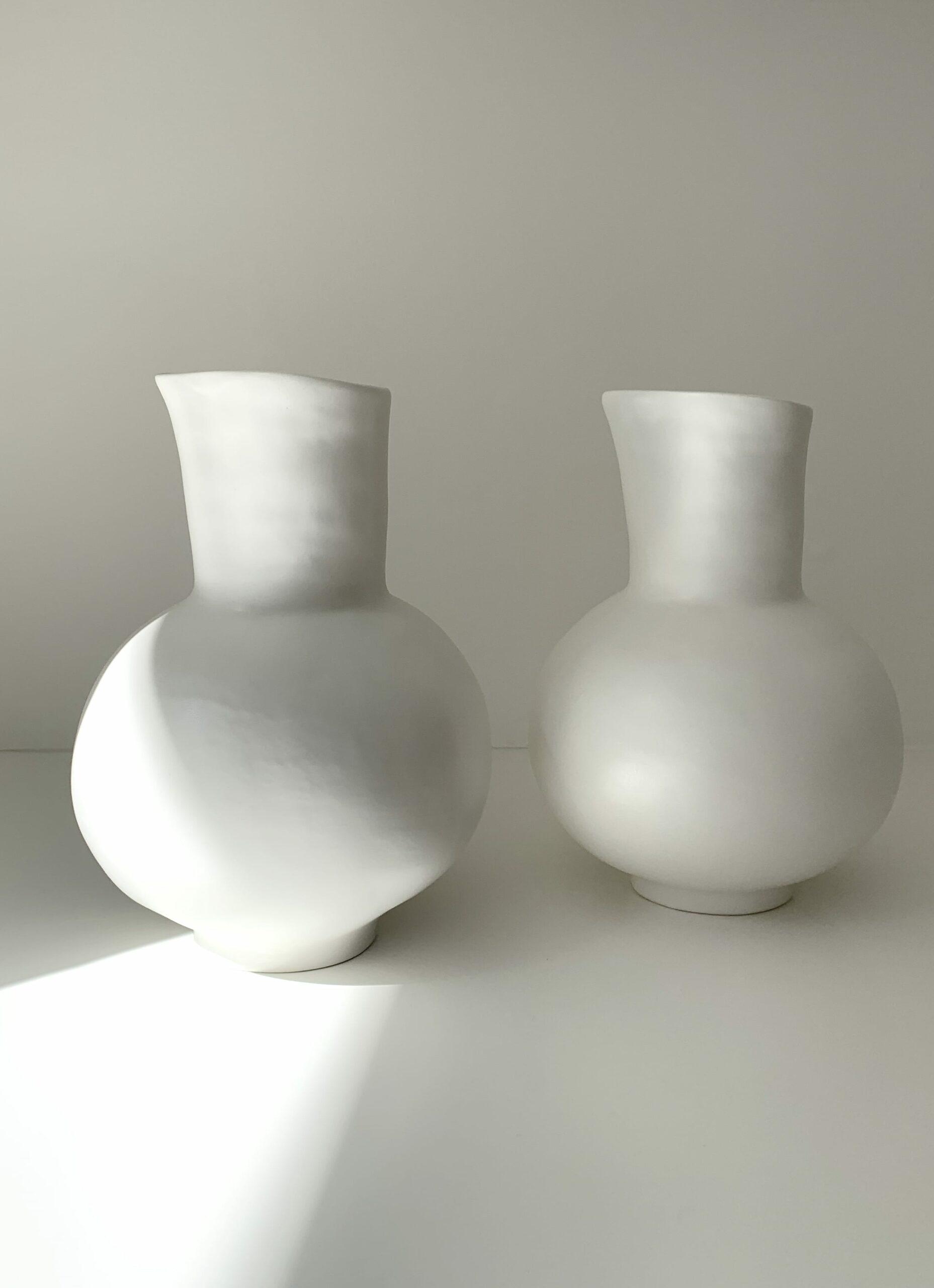 Marta Bonilla - Handmade Stoneware Pitcher - white