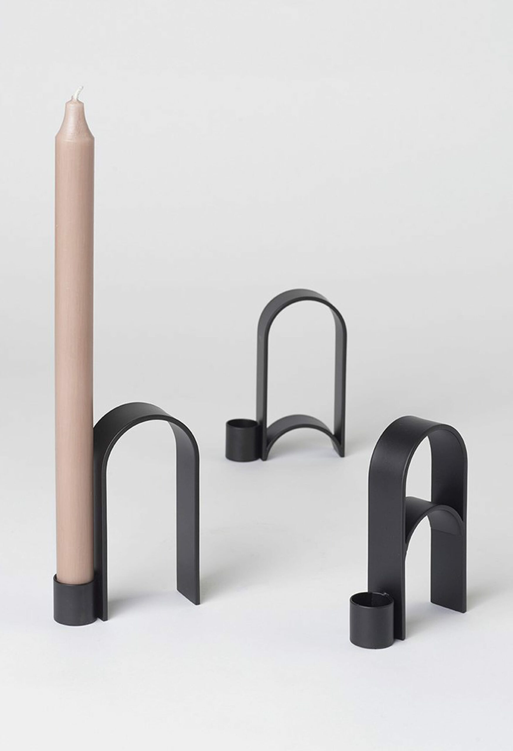 Kristina Dam Studio - Arch Candleholder - Black powder-coated steel - Vol.1