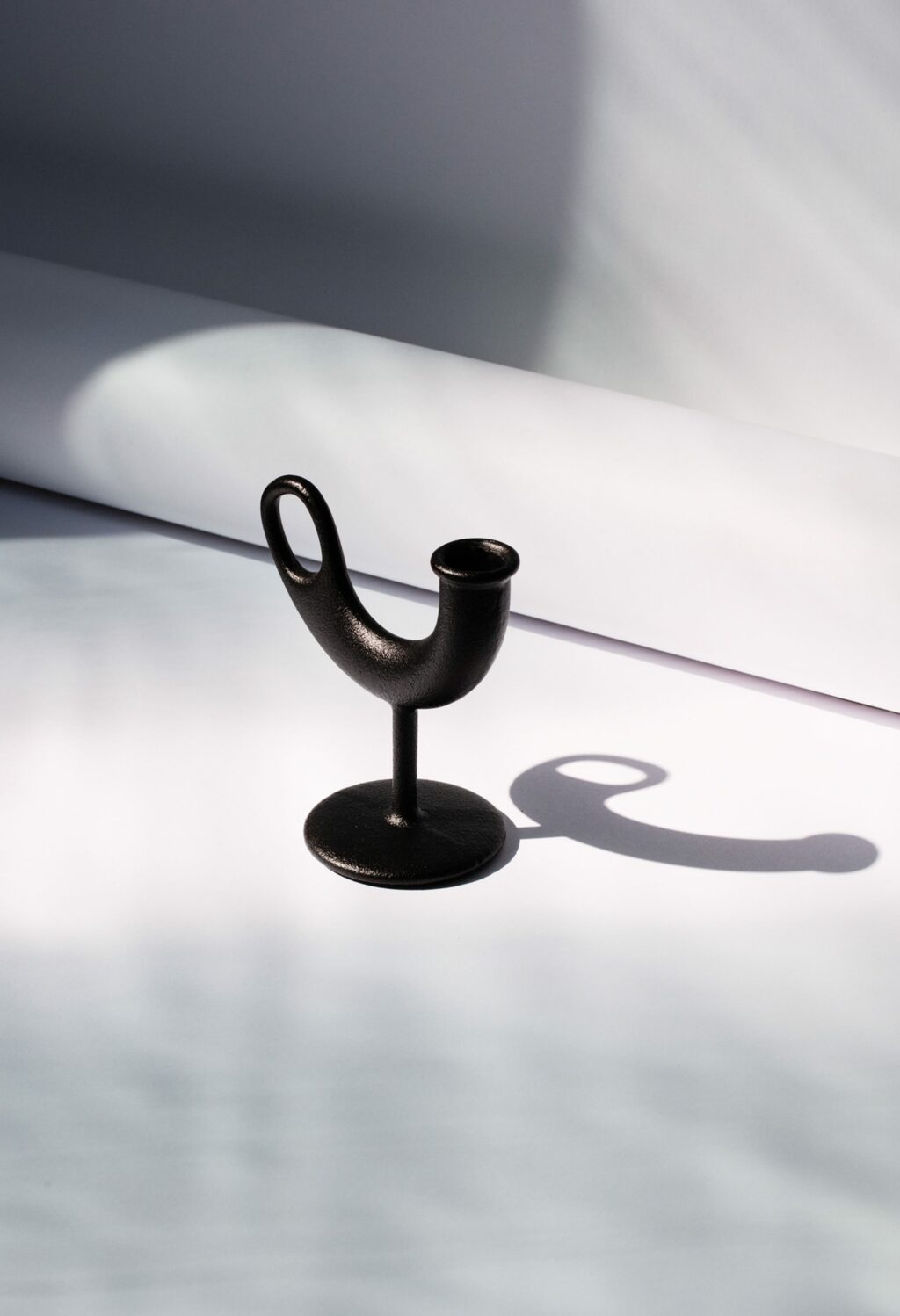 Nedre Foss - Ildhane - Candle stick by Anderssen and Voll - black cast iron