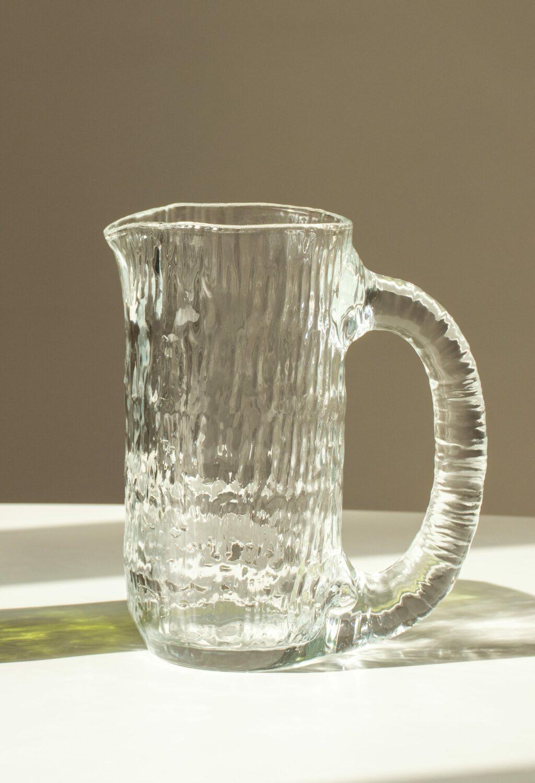 Nedre Foss - Vannfall - Water jug in mold-blown glass - Clear