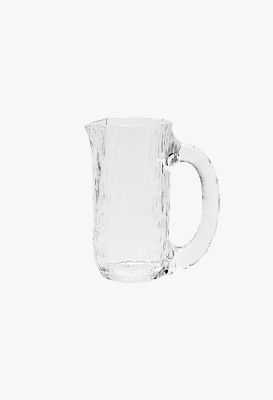 Nedre Foss - Vannfall - Water jug in mouth- blown glass - Clear