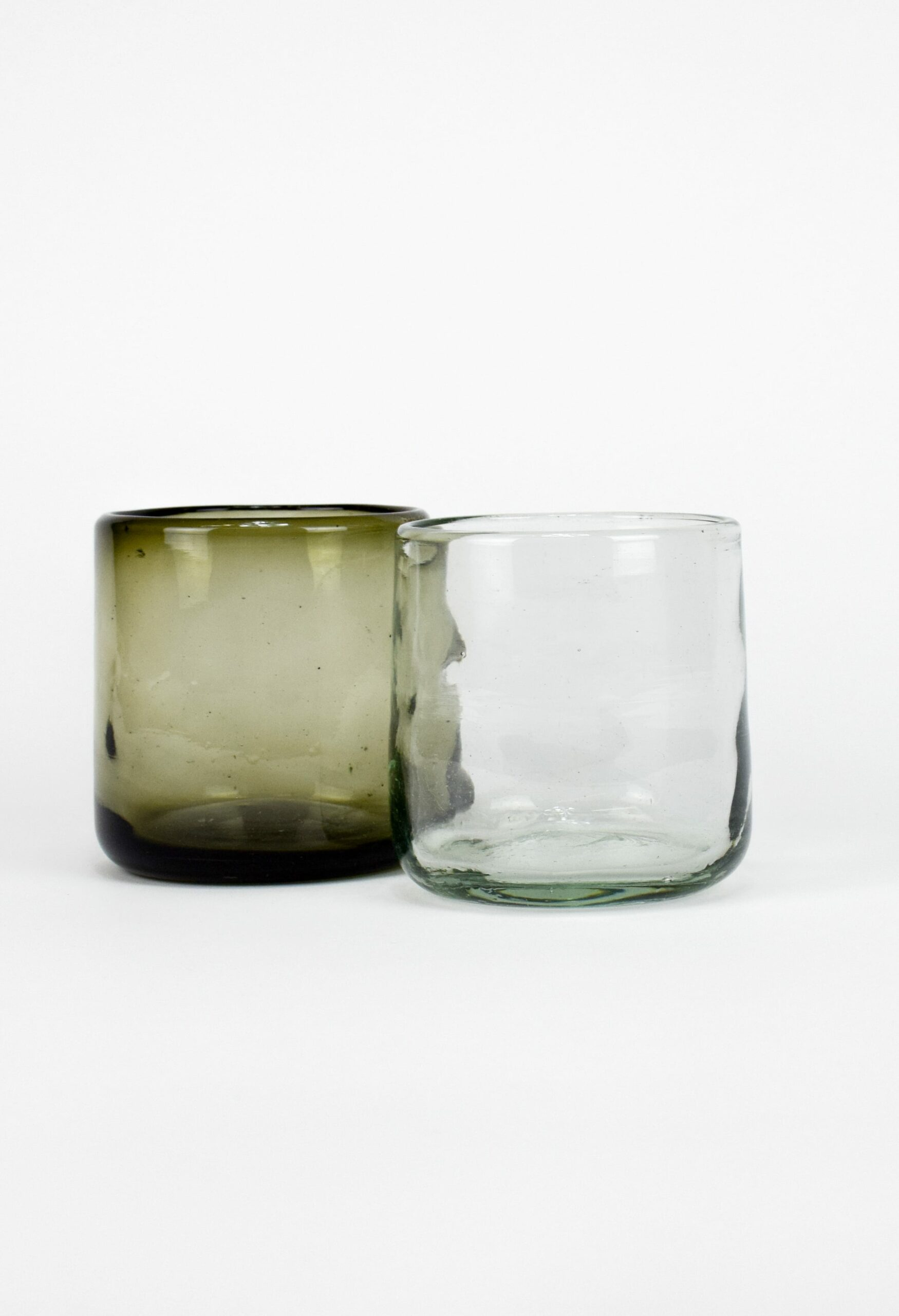 La Muerte Tiene Permiso - White Lights - Handmade Recycled Glass Tumbler