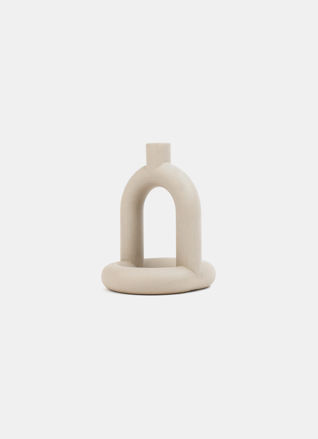 Noi Doi - Kapp Candle Holder - Stoneware - available in - Sand - Ivory - Speckled white