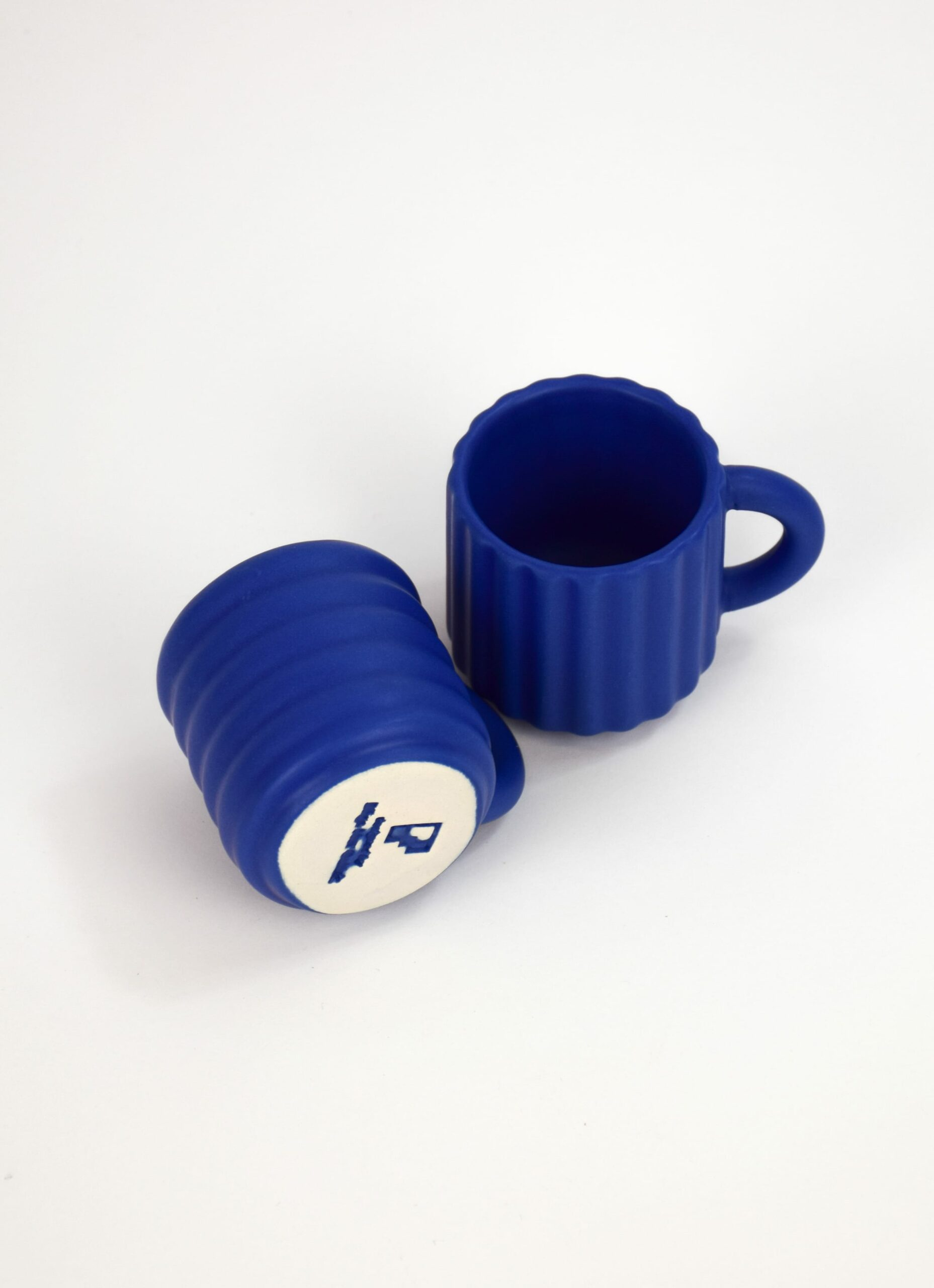Form and Seek - Ripple Espresso Cups - Set of Two - Cobalt