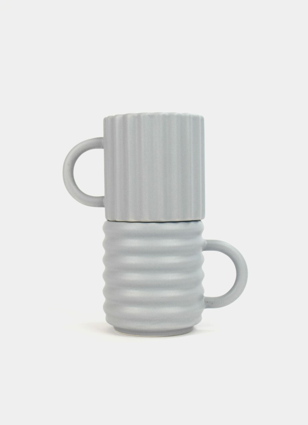 Form and Seek - Ripple Mugs - Set of Two - Grey